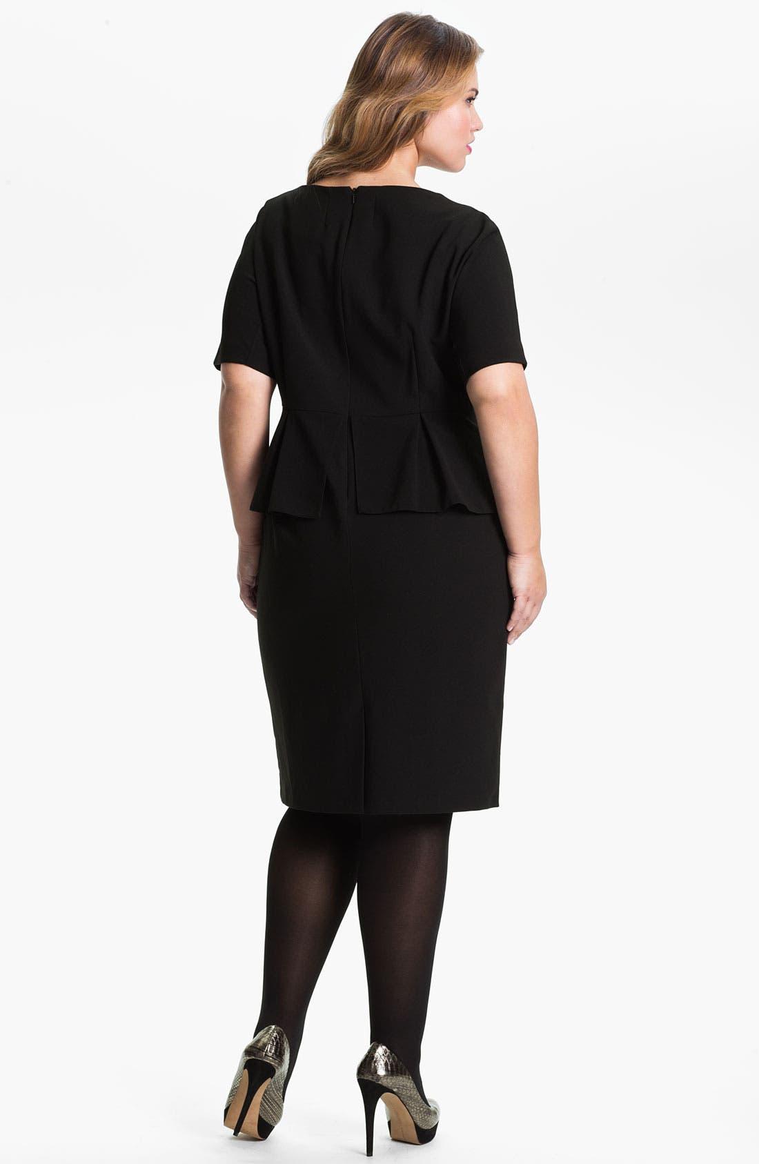 Alternate Image 2  - Evans 'Debra' Peplum Dress (Plus Size)