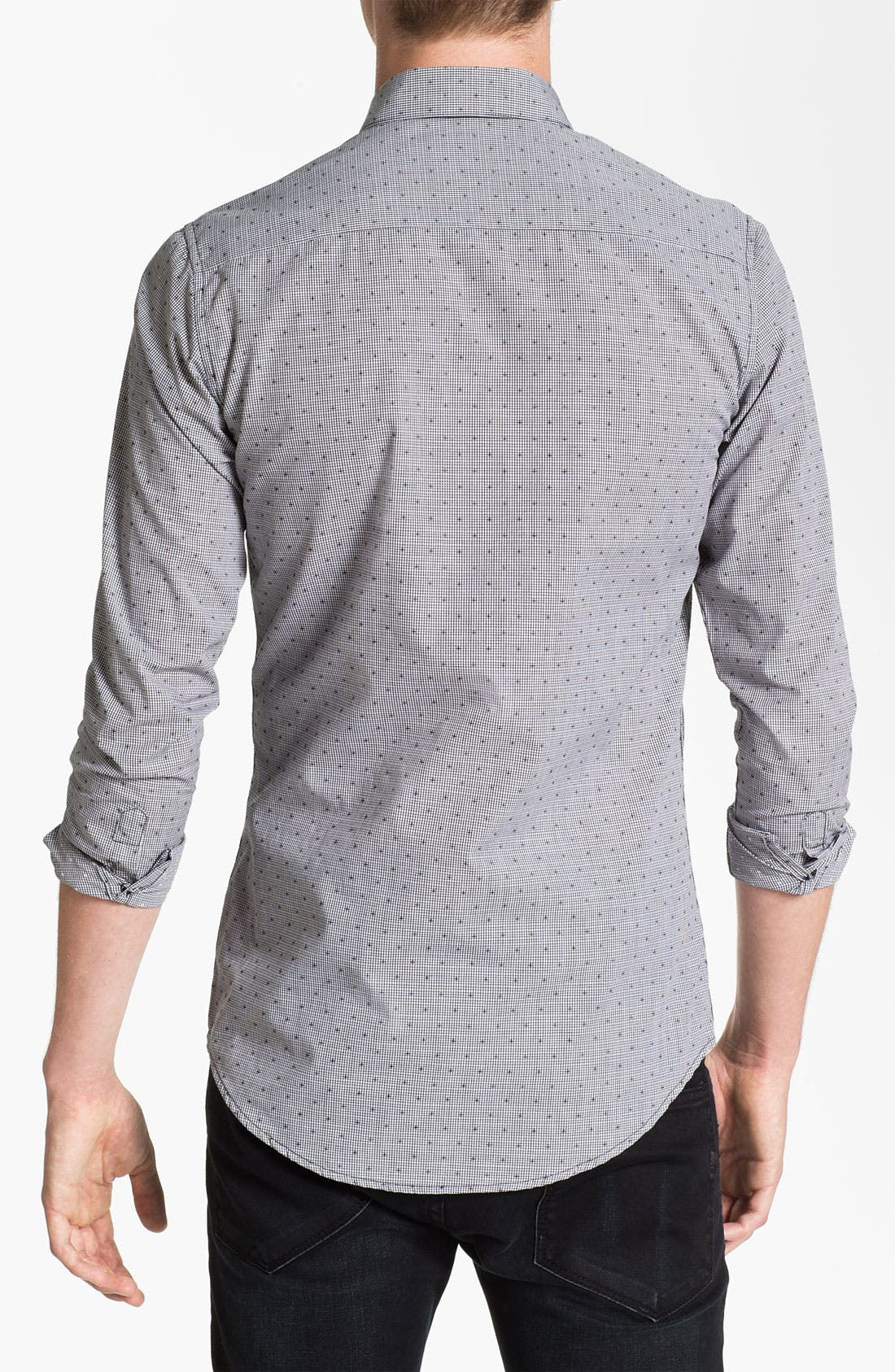Alternate Image 2  - Topman Extra Trim Grid Check Shirt