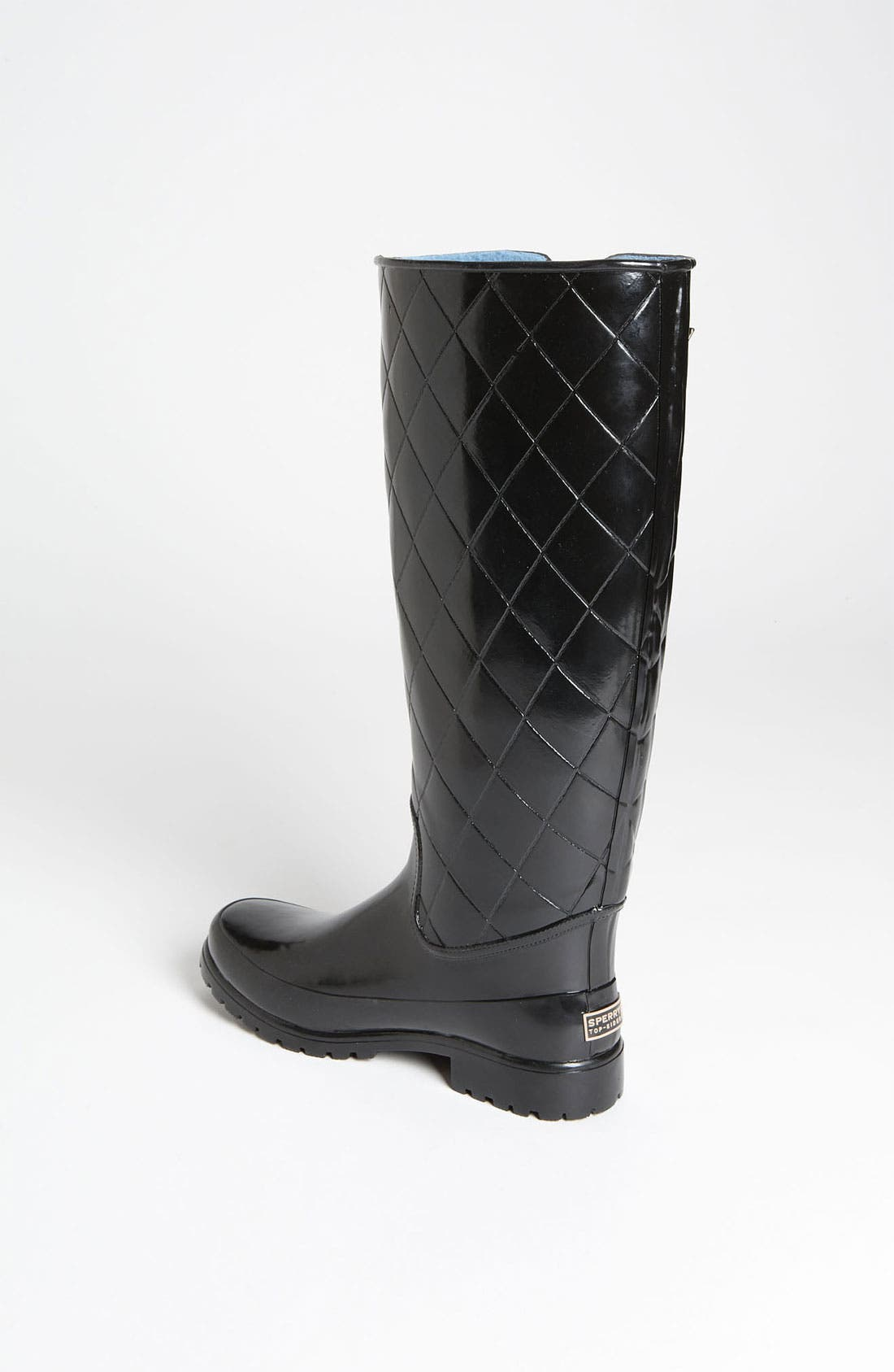 Top-Sider<sup>®</sup> 'Pelican Too' Rain Boot,                             Alternate thumbnail 4, color,                             Black Quilted