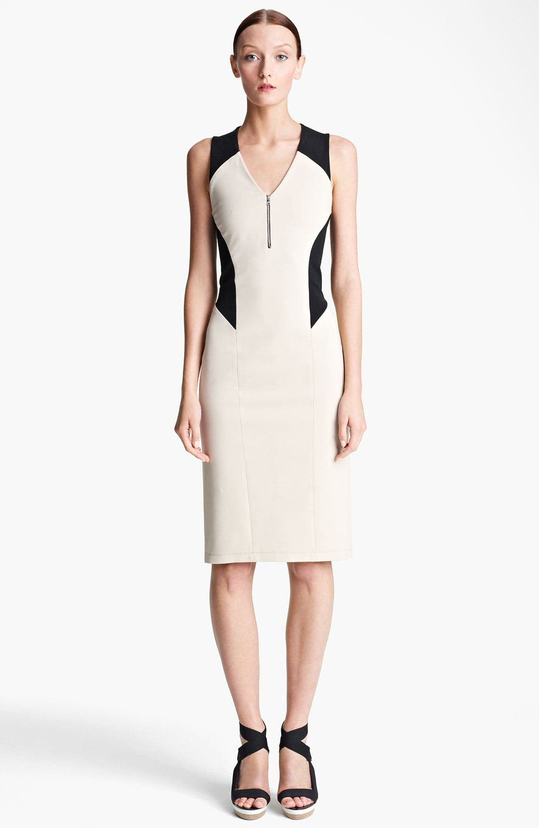 Main Image - Lida Baday Colorblock Stretch Knit Dress