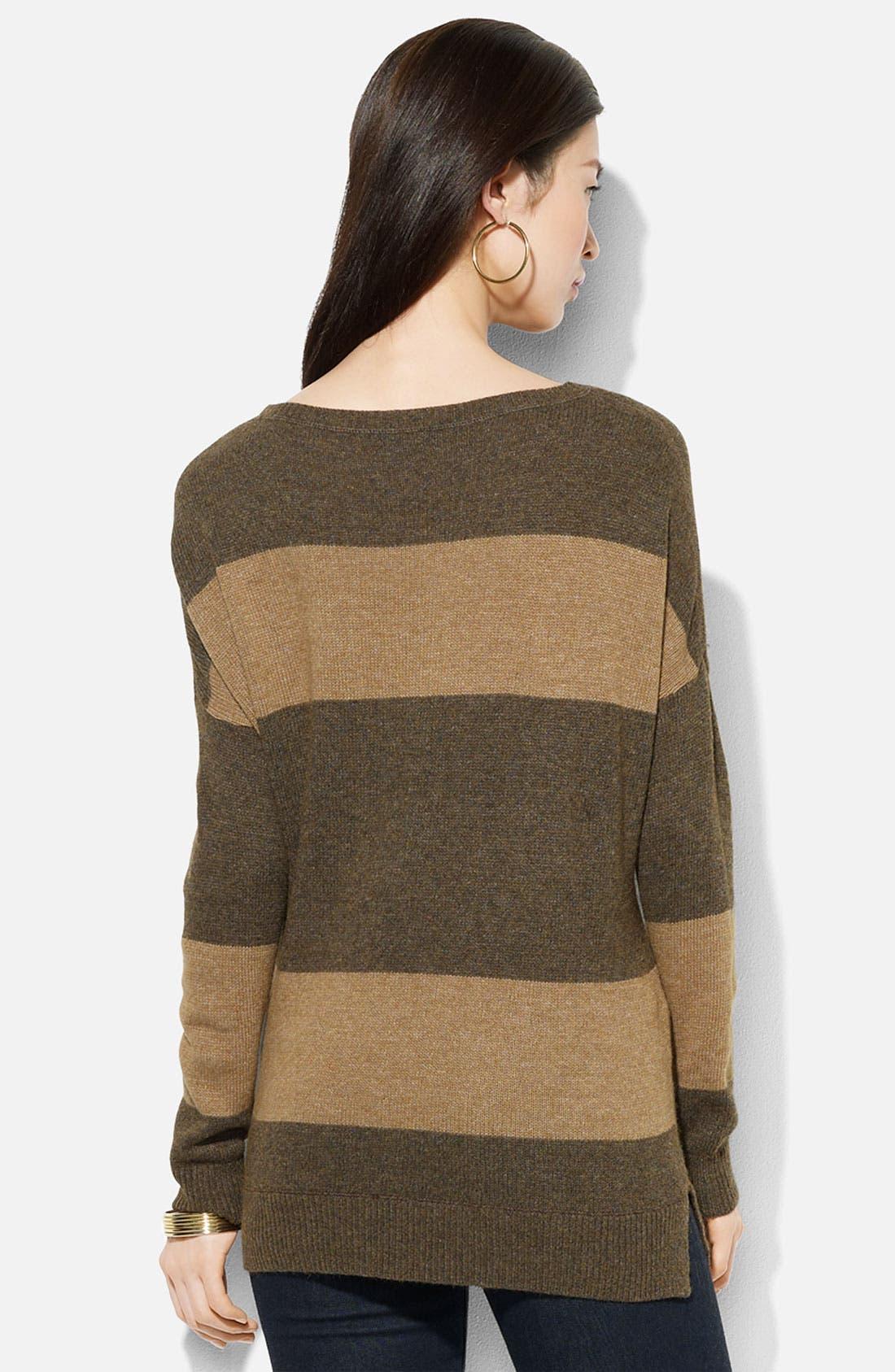 Alternate Image 2  - Lauren Ralph Lauren Ballet Neck Stripe Sweater