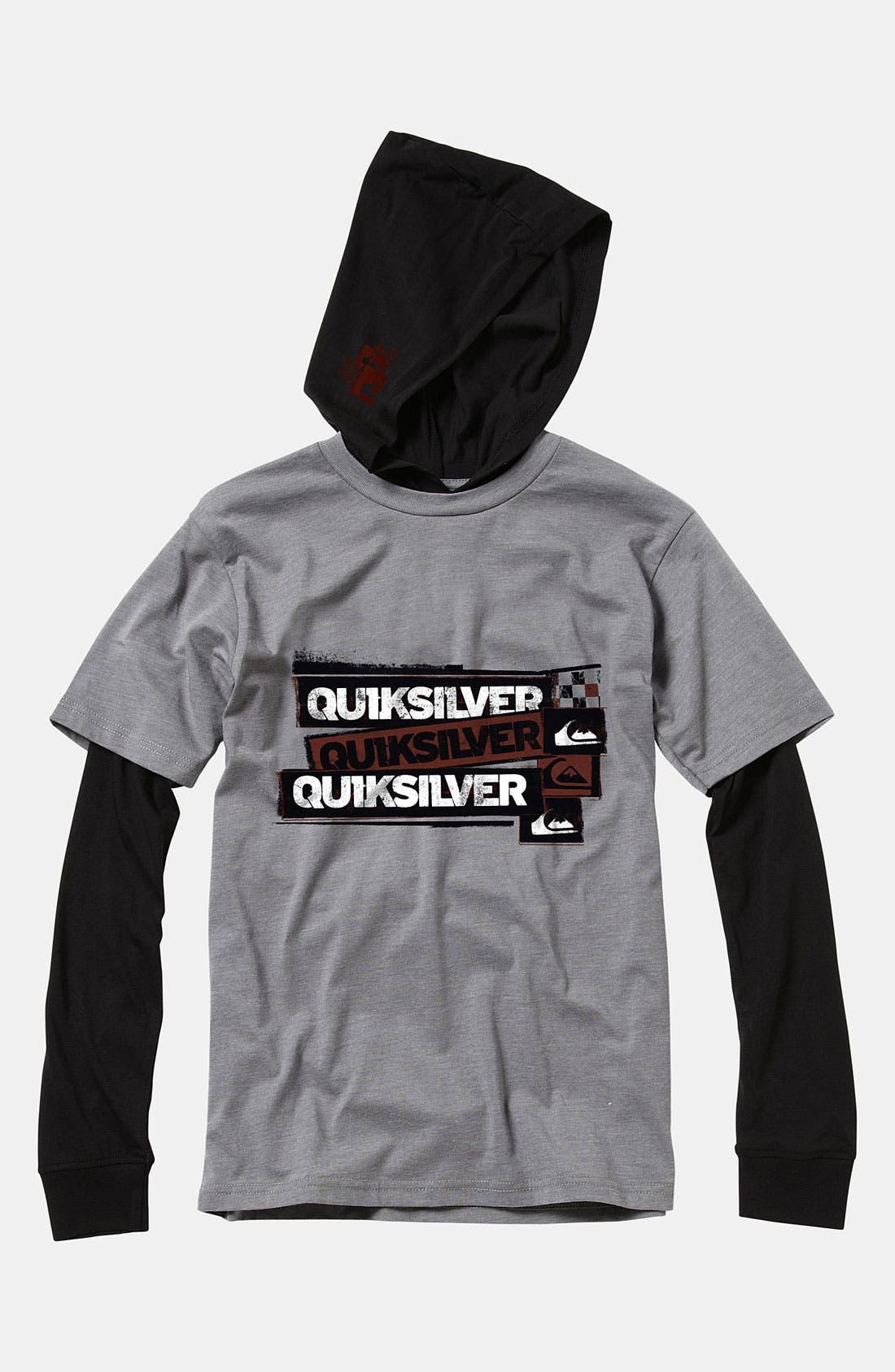 Alternate Image 1 Selected - Quiksilver 'Meddle' Layered Sleeve Hoodie (Toddler)