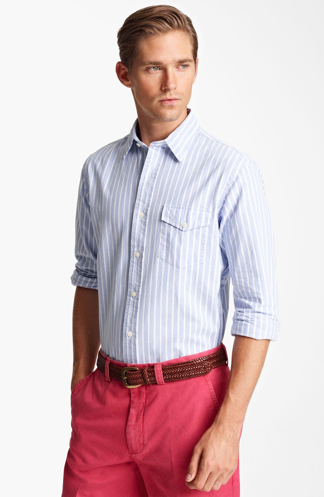 Alternate Image 1 Selected - Polo Ralph Lauren Custom Fit Sport Shirt (Online Exclusive)
