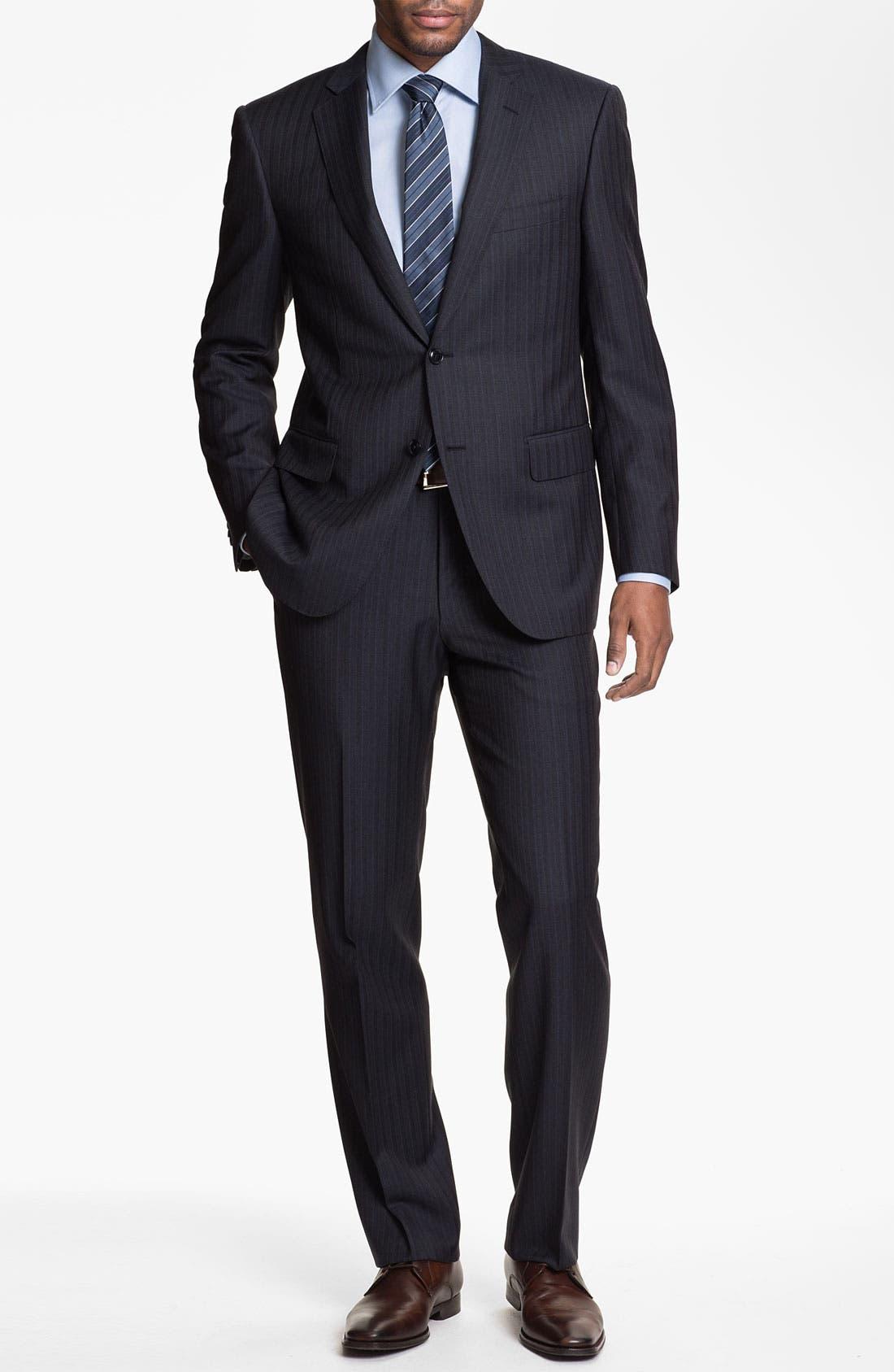 Alternate Image 2  - Pal Zileri Trim Fit Stripe Suit