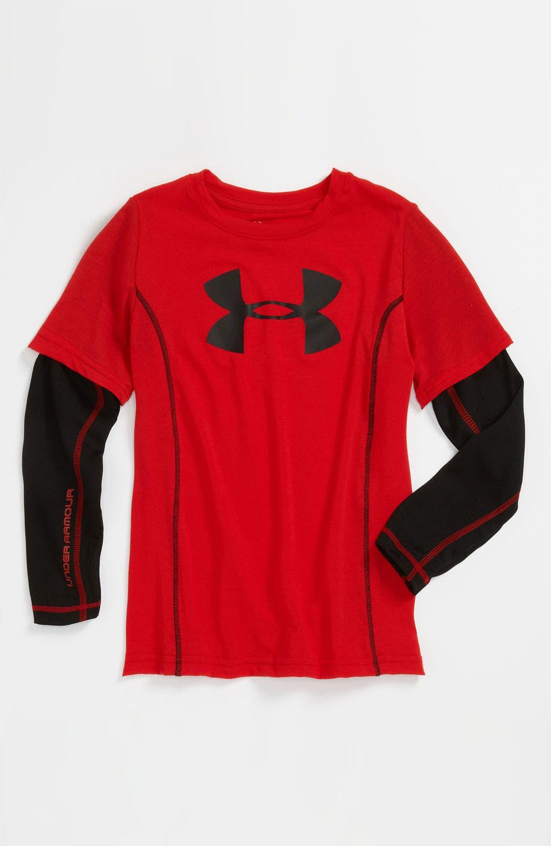 Alternate Image 1 Selected - Under Armour 'Slider' AllSeasonGear® T-Shirt (Little Boys)