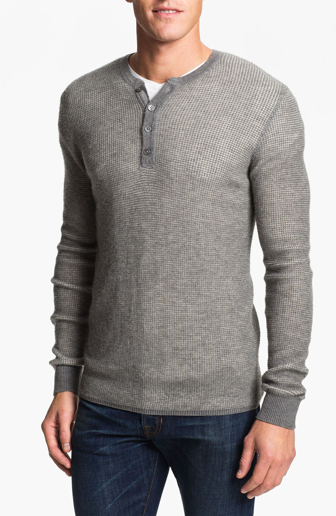 Alternate Image 1 Selected - Vince Long Sleeve Wool Thermal Henley