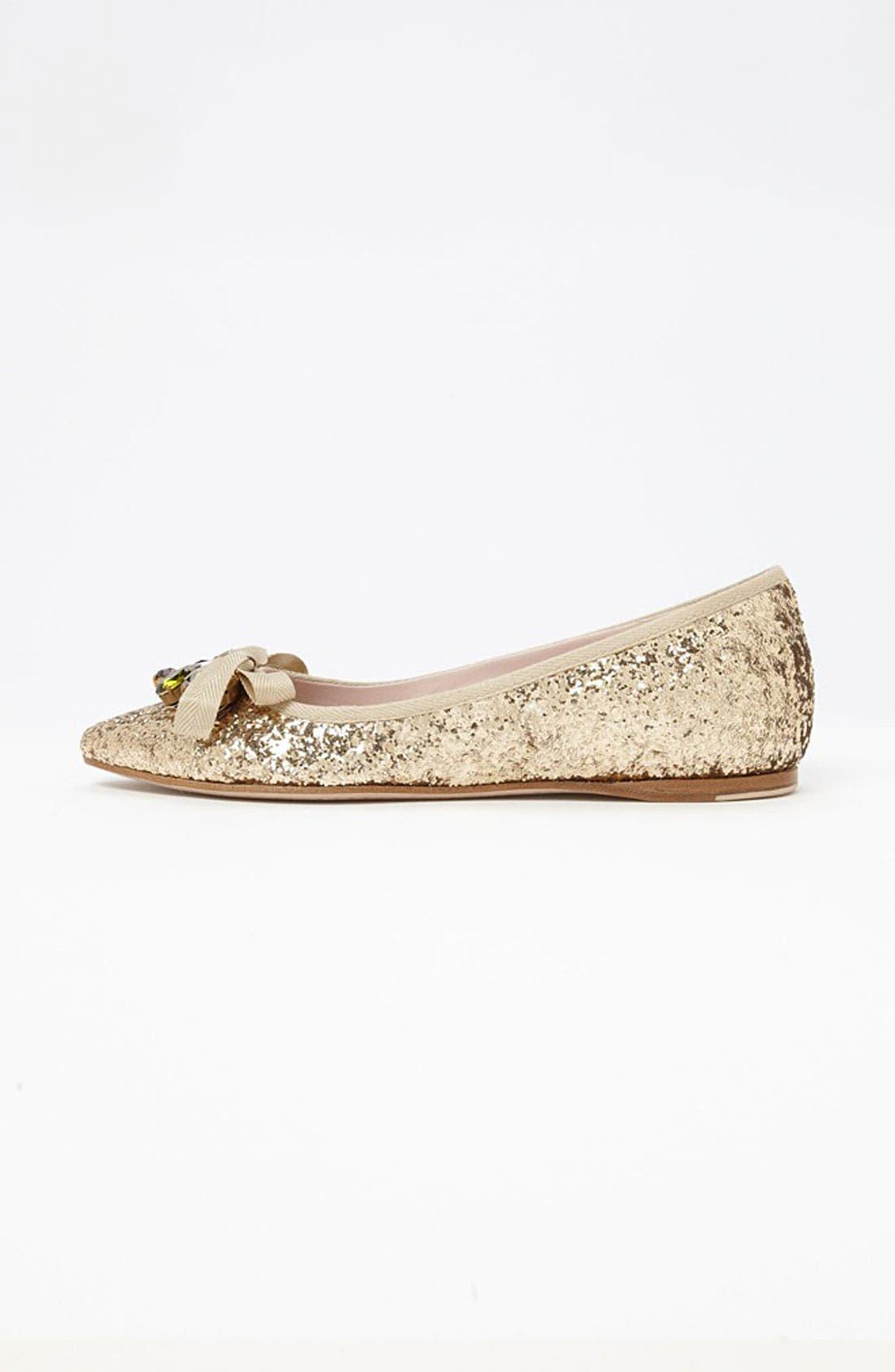 Alternate Image 4  - Miu Miu Jeweled Pointy Toe Flat