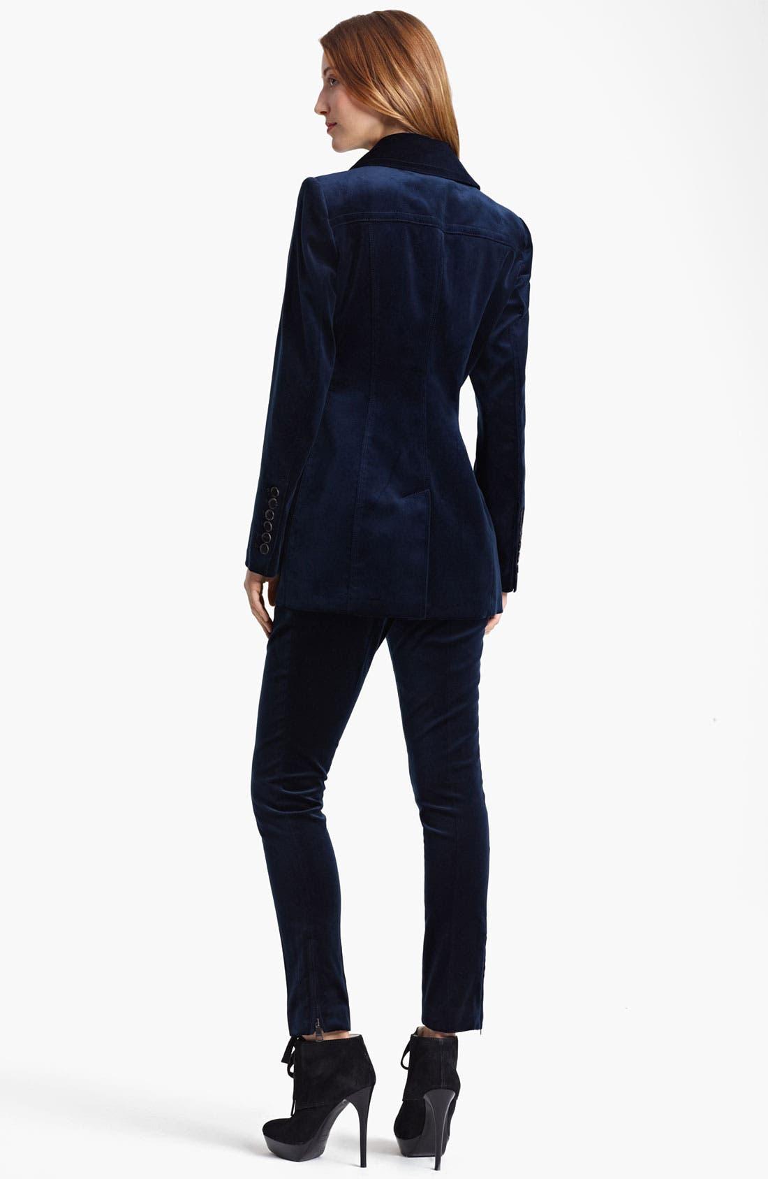 Alternate Image 2  - Burberry London Double Breasted Velvet Jacket
