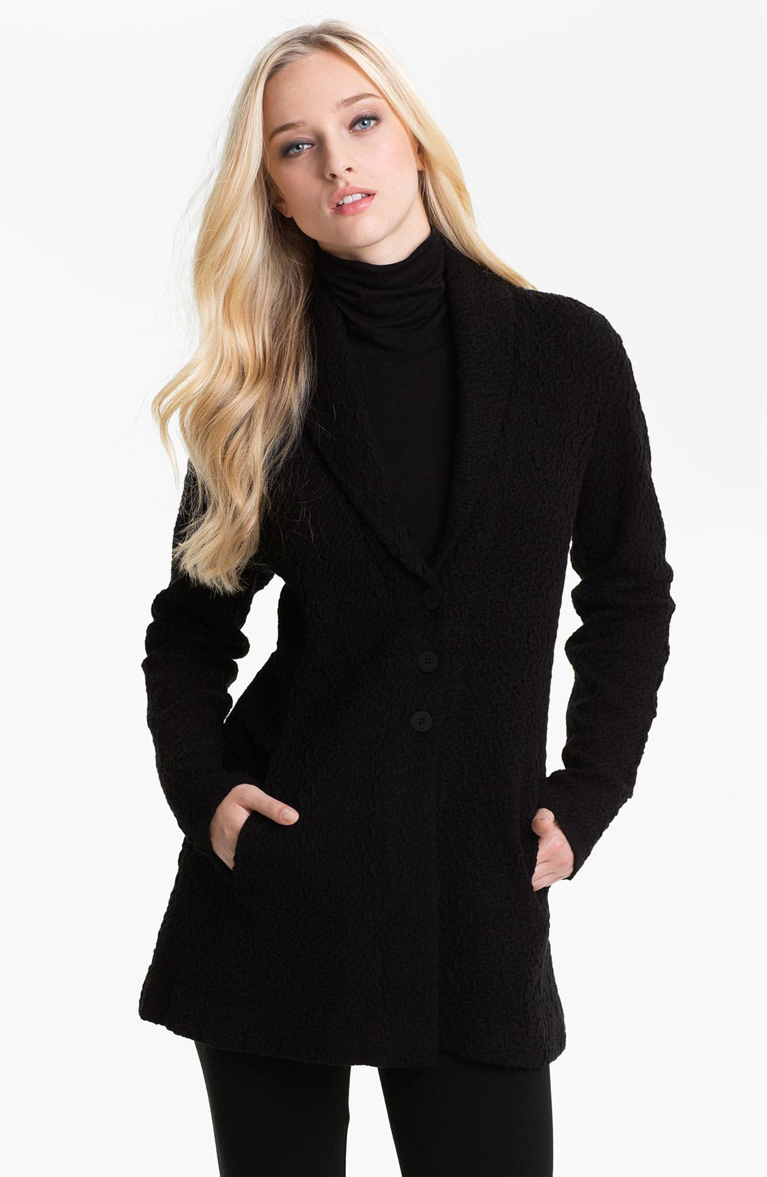 Alternate Image 1 Selected - Eileen Fisher Long Jacket
