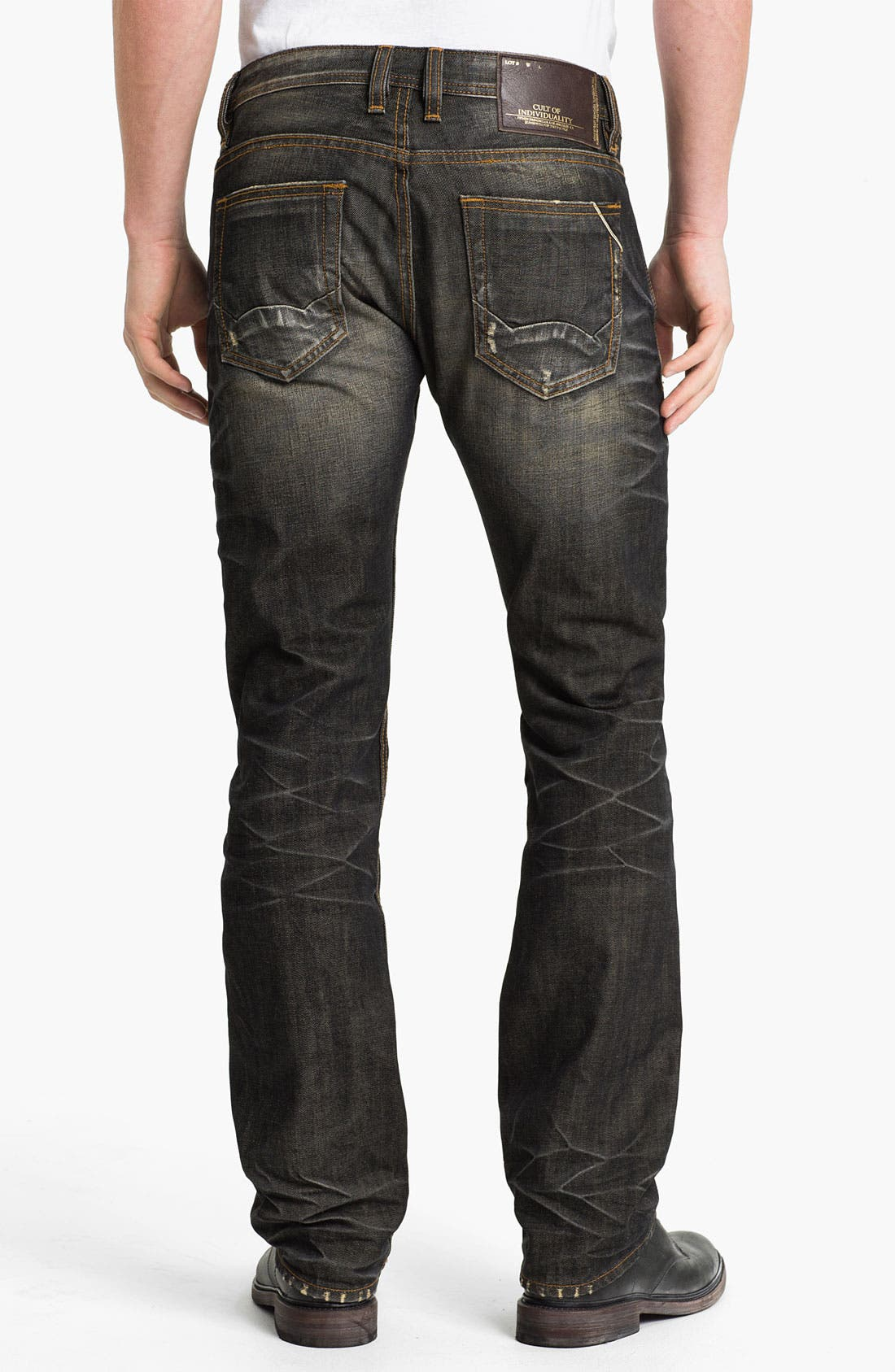 Alternate Image 1 Selected - Cult of Individuality 'Hagen' Straight Leg Jeans (18-Month Brown)
