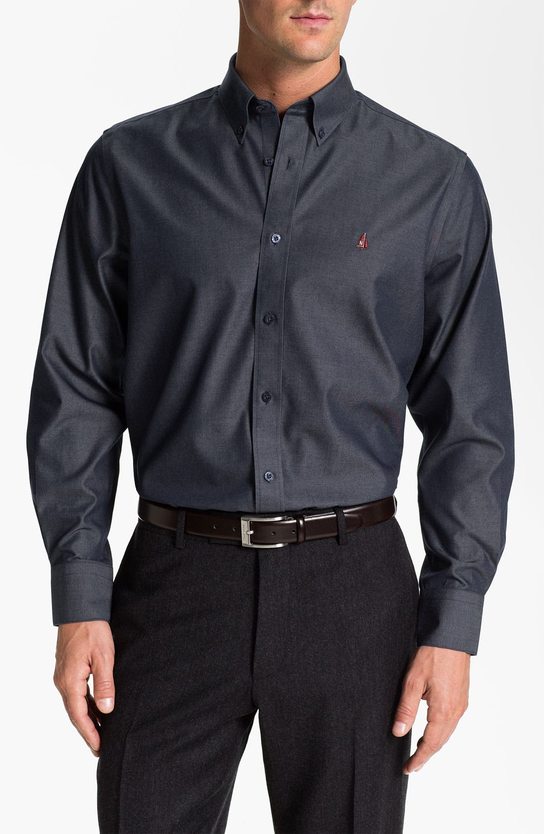 Alternate Image 1 Selected - Nordstrom Traditional Fit Denim Sport Shirt