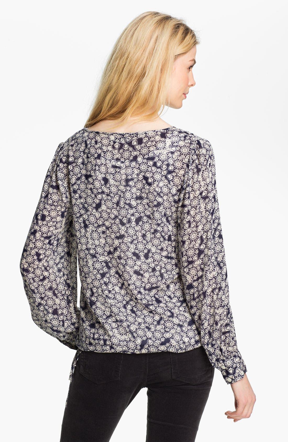 Alternate Image 2  - Lucky Brand 'Farrah' Print Blouse