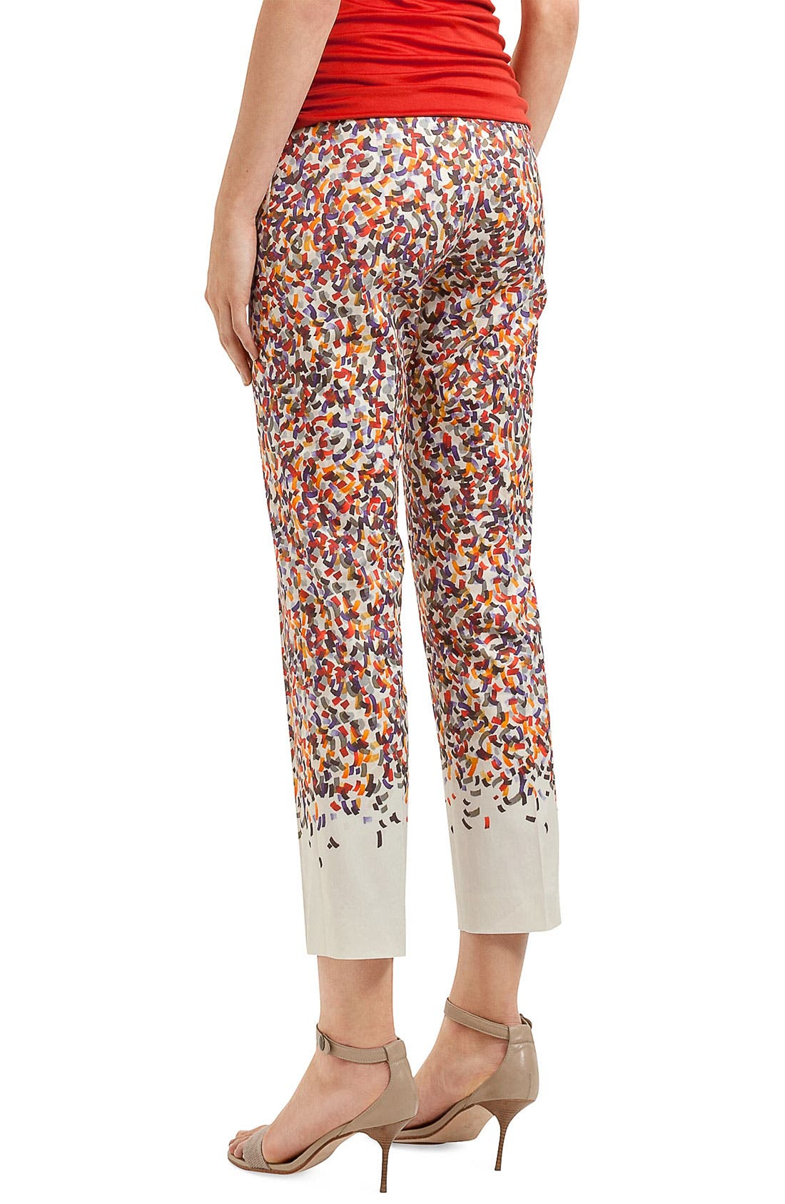 Alternate Image 2  - Akris punto 'Franca' Confetti Print Crop Pants