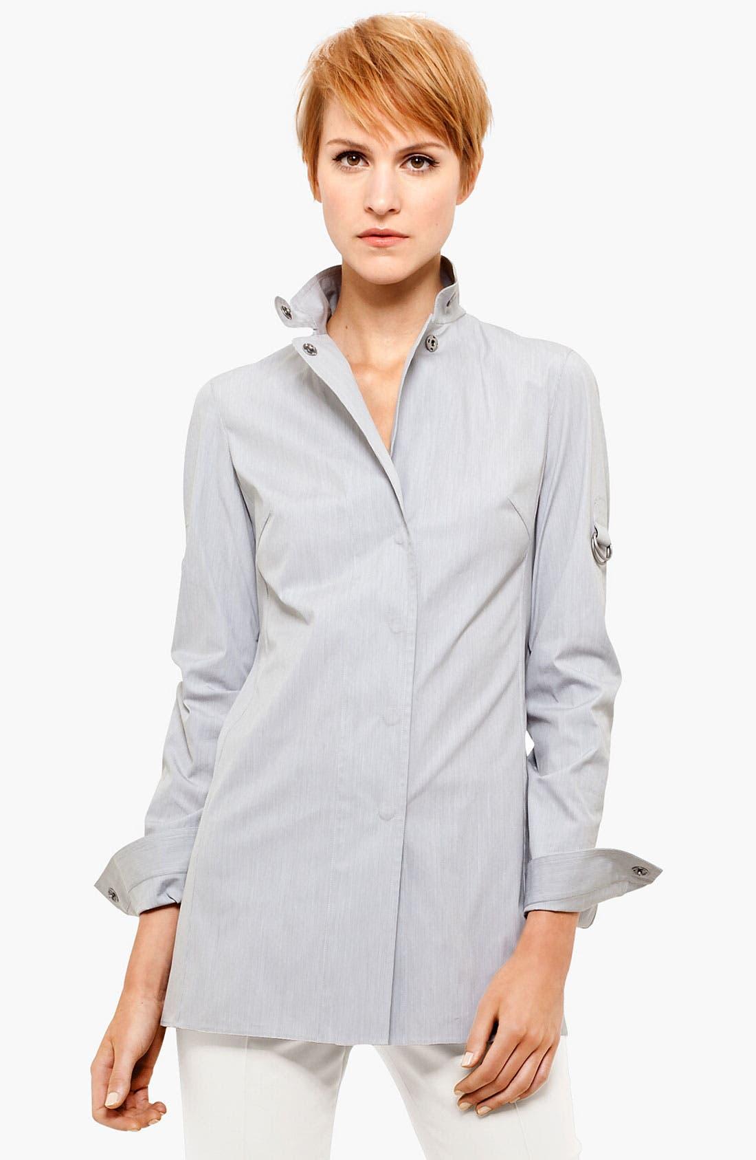 Main Image - Akris punto Snap Front Peplum Shirt