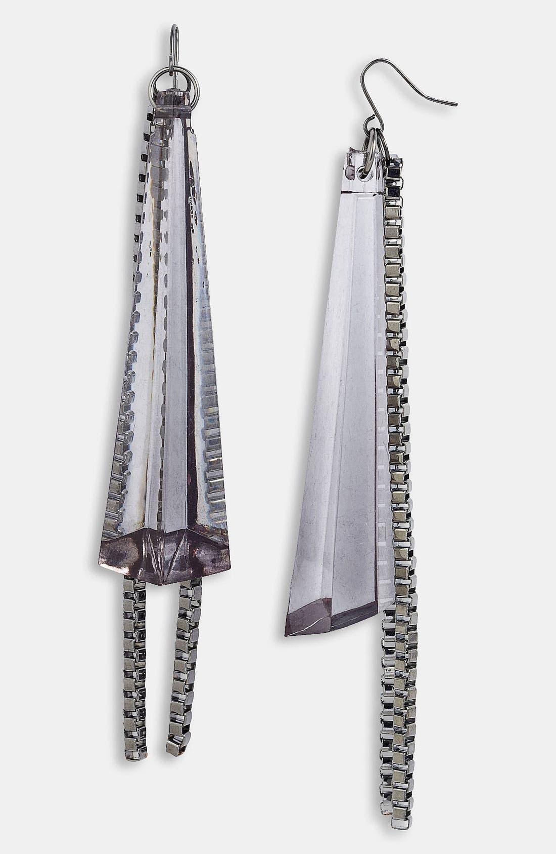 Main Image - Adia Kibur Lucite® Chain Fan Earrings
