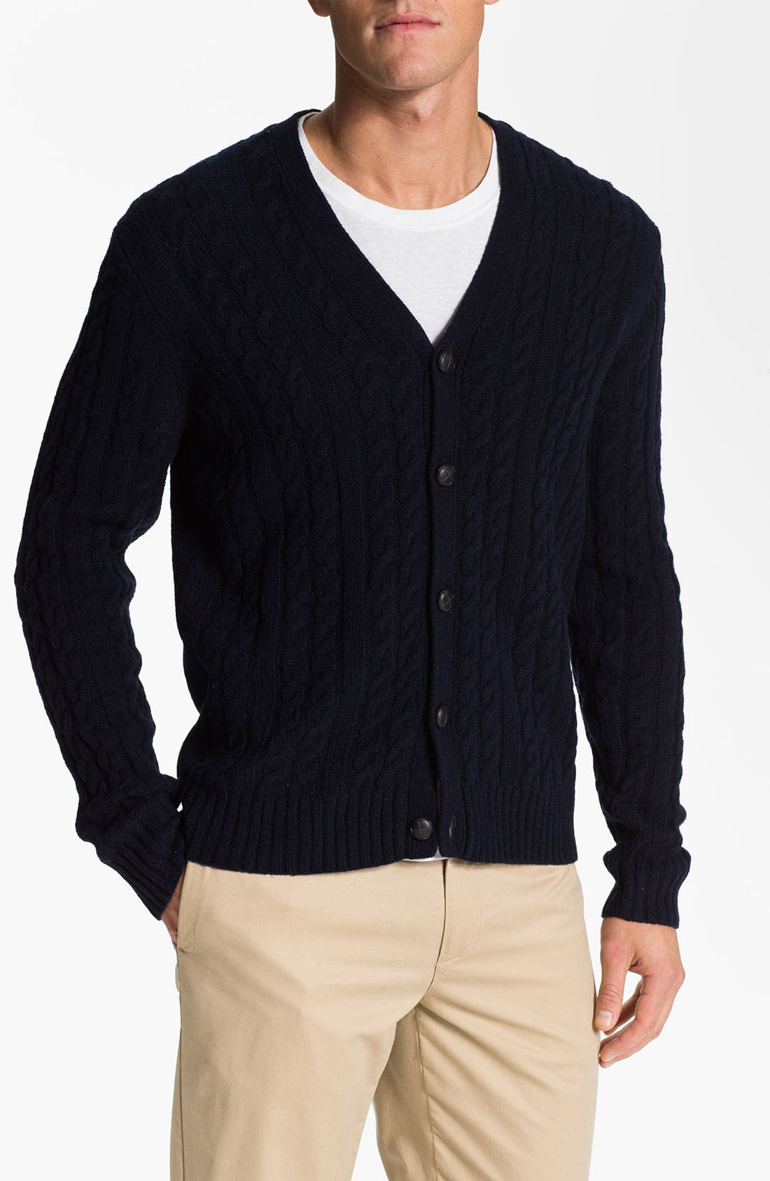 Alternate Image 1 Selected - Ben Sherman Cable Knit Cardigan