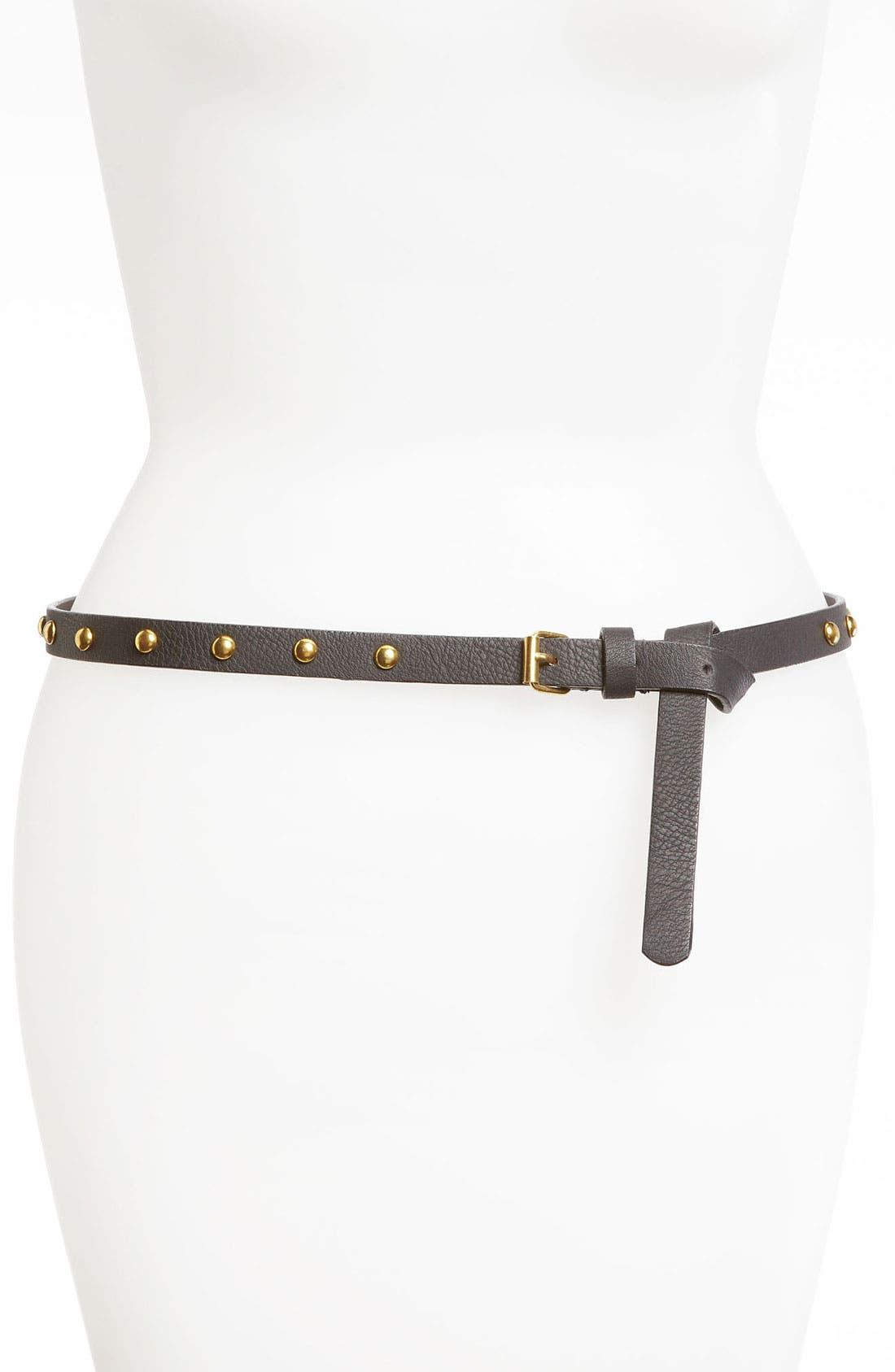 Alternate Image 1 Selected - Lulu Studded Skinny Belt