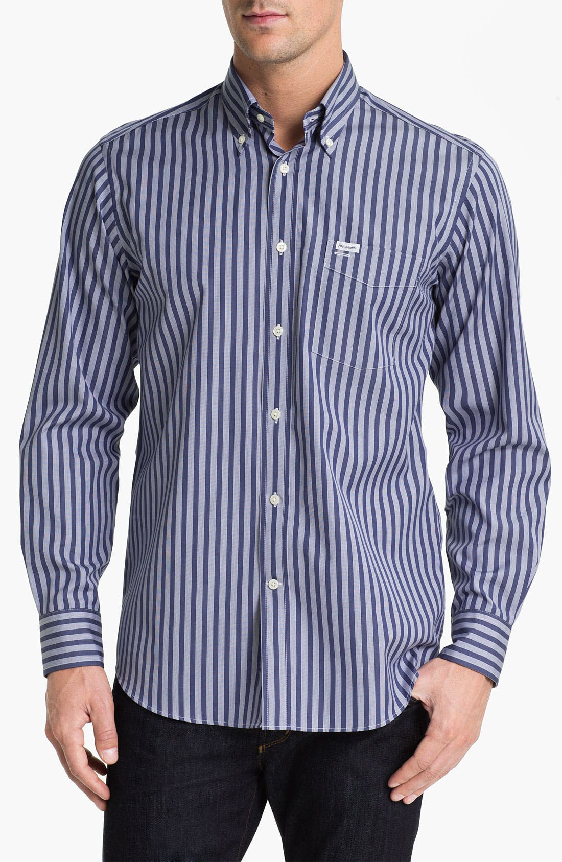 Façonnable Club Fit Sport Shirt,                         Main,                         color, Blue