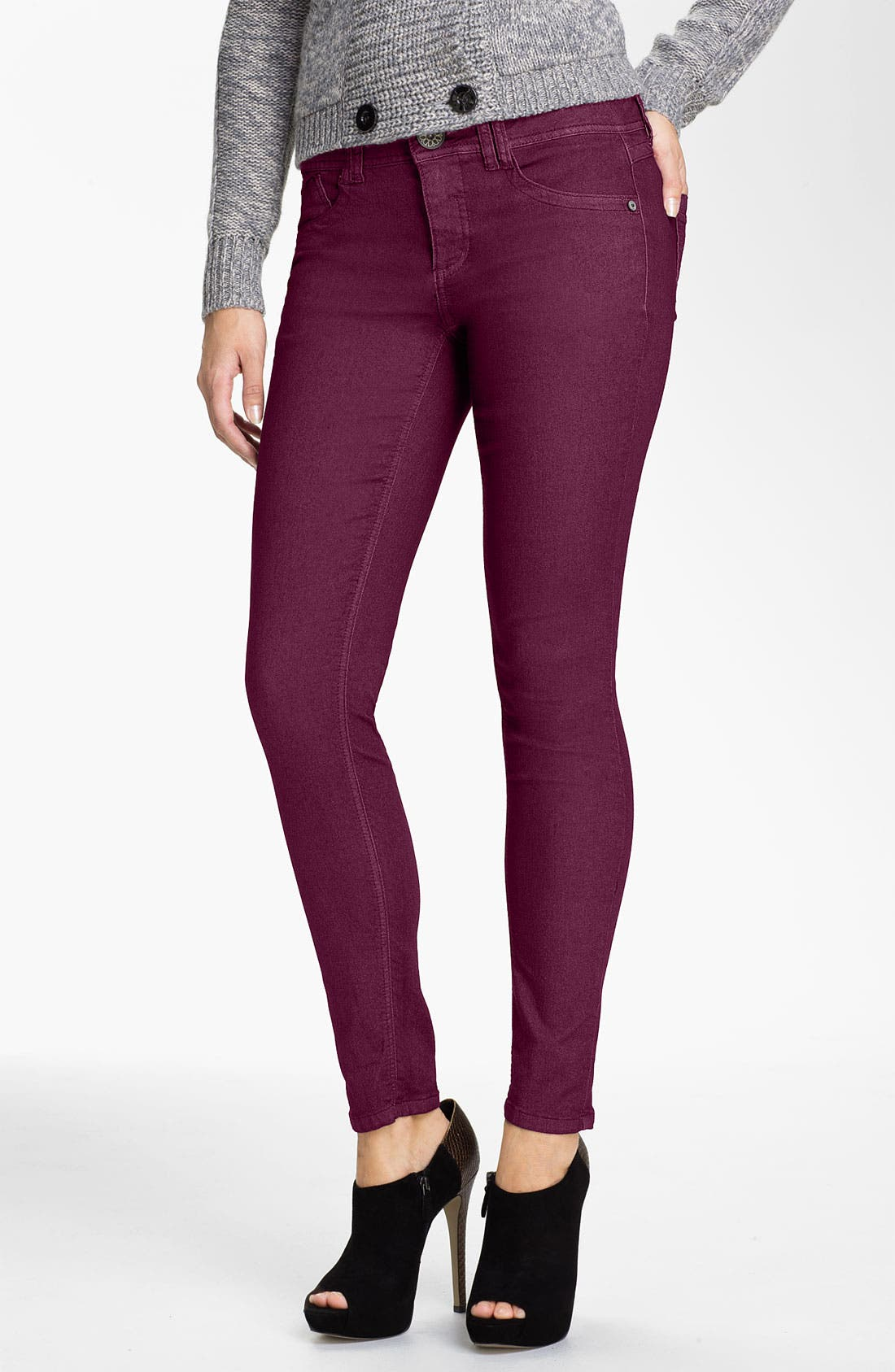 Alternate Image 1 Selected - Wit & Wisdom Colored Denim Skinny Jeans (Nordstrom Exclusive)