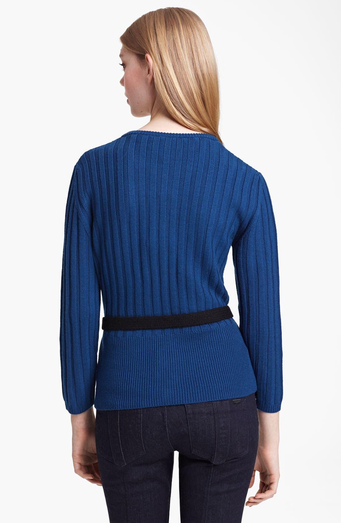 Alternate Image 2  - Burberry Brit Knit Merino Wool Cardigan