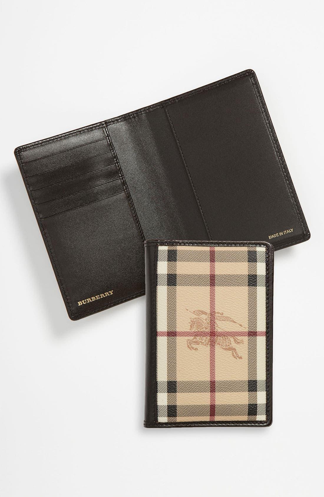 Alternate Image 2  - Burberry 'Haymarket Check' Passport Wallet
