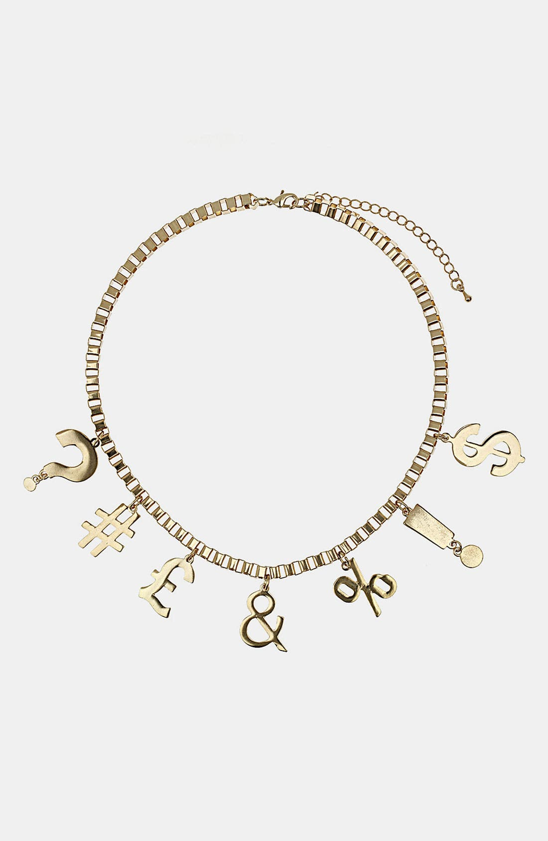 Alternate Image 1 Selected - Topshop Punctuation Charm Necklace