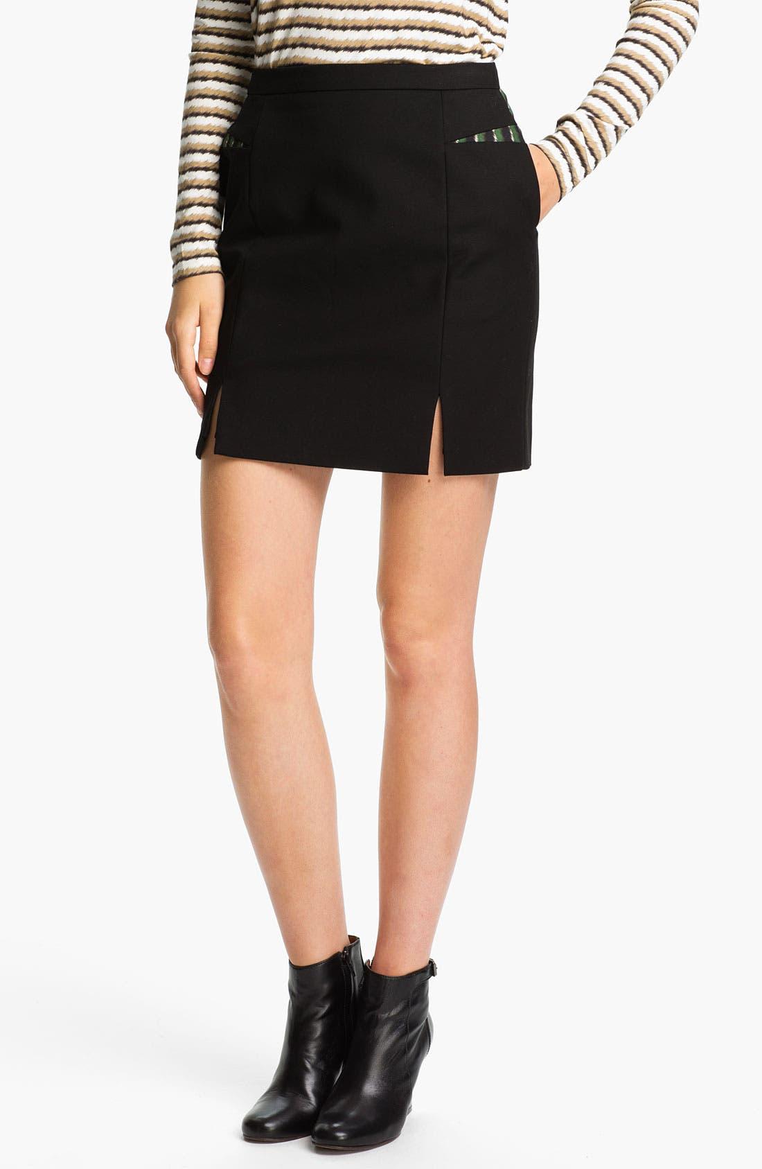 Alternate Image 1 Selected - KENZO Inverted Print Panel Skirt