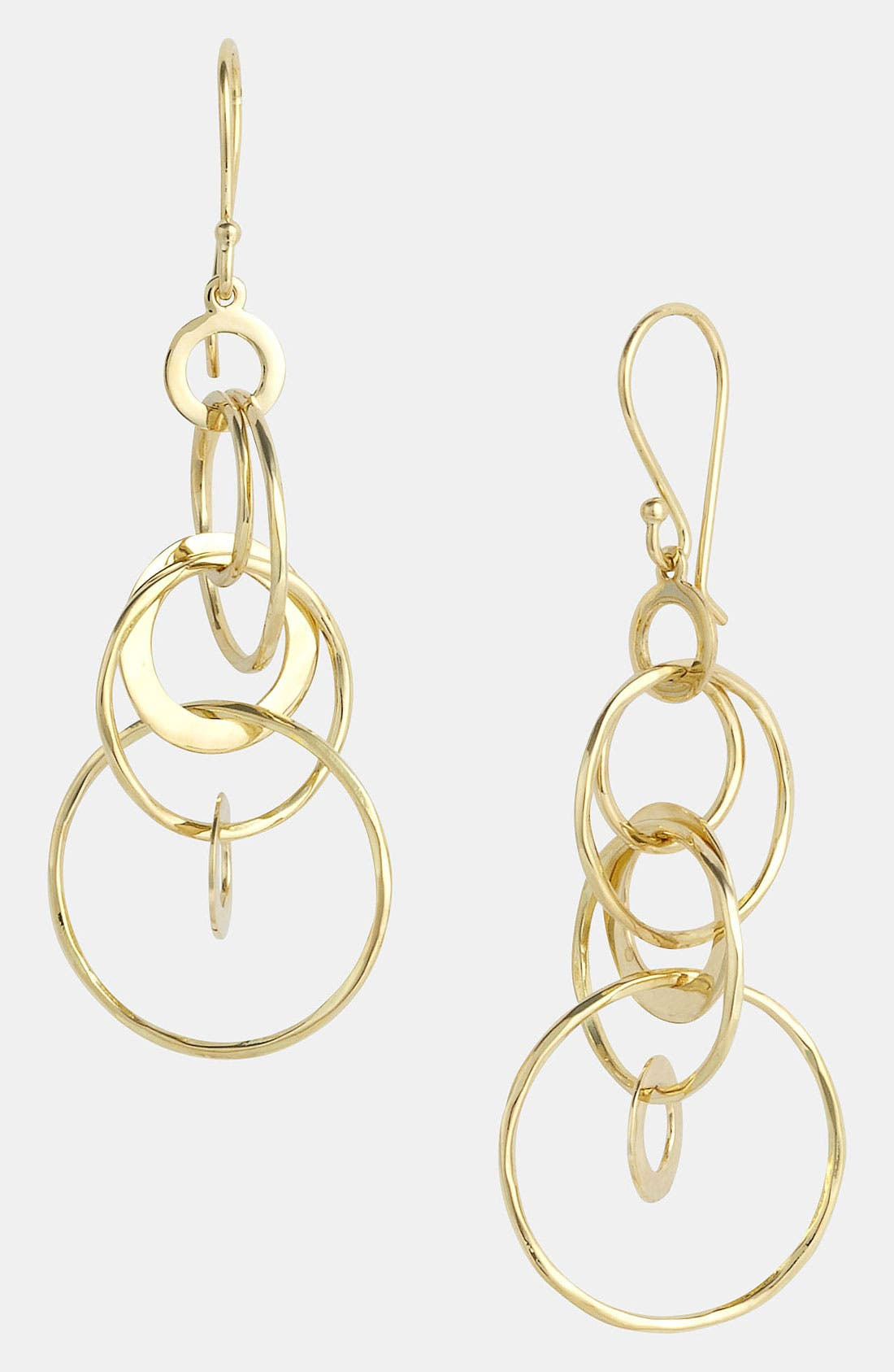 Alternate Image 1 Selected - Ippolita 'Crinkle - Mini Jet Set' 18k Gold Drop Earrings