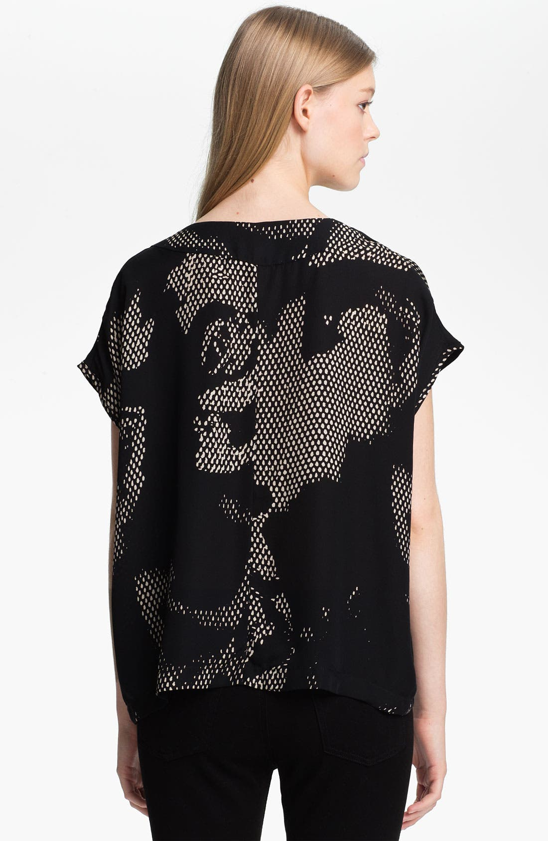 Alternate Image 2  - Halston Heritage Rose Print Double Georgette Top