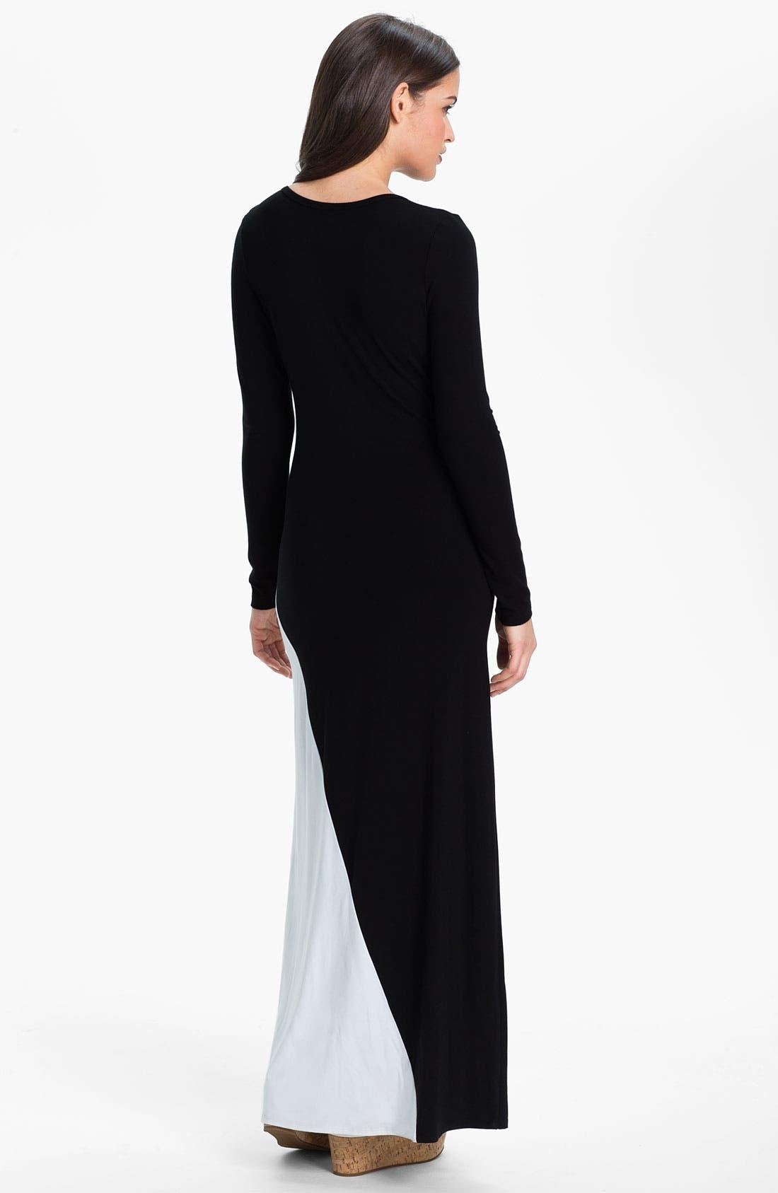 Alternate Image 2  - Karen Kane Colorblock Maxi Dress