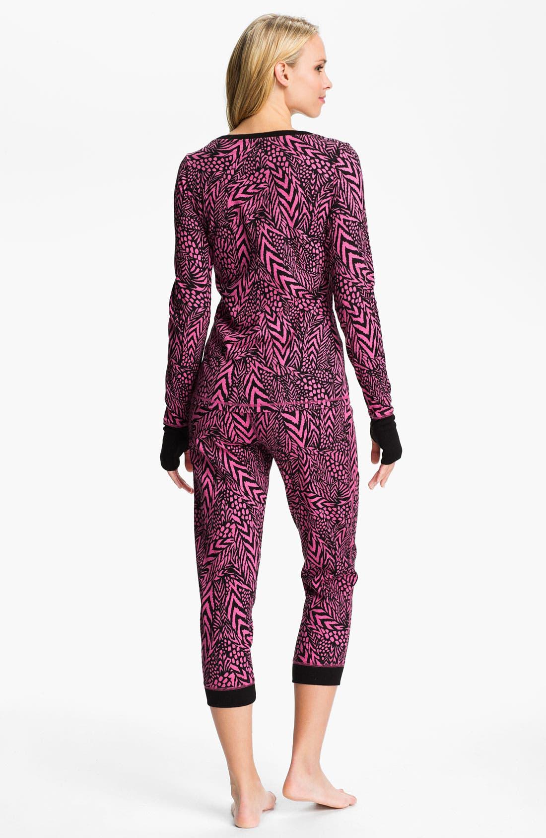 Alternate Image 2  - Steve Madden 'Cozy Up' Print Thermal Pajamas