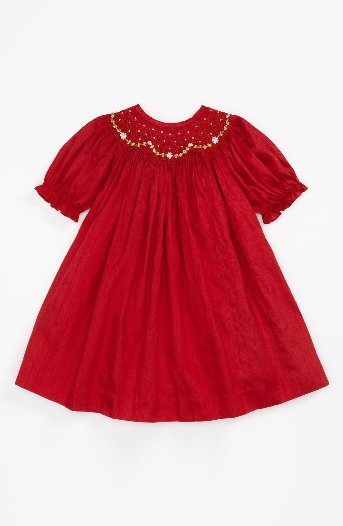 Alternate Image 1 Selected - Luli & Me Silk Dress (Infant)