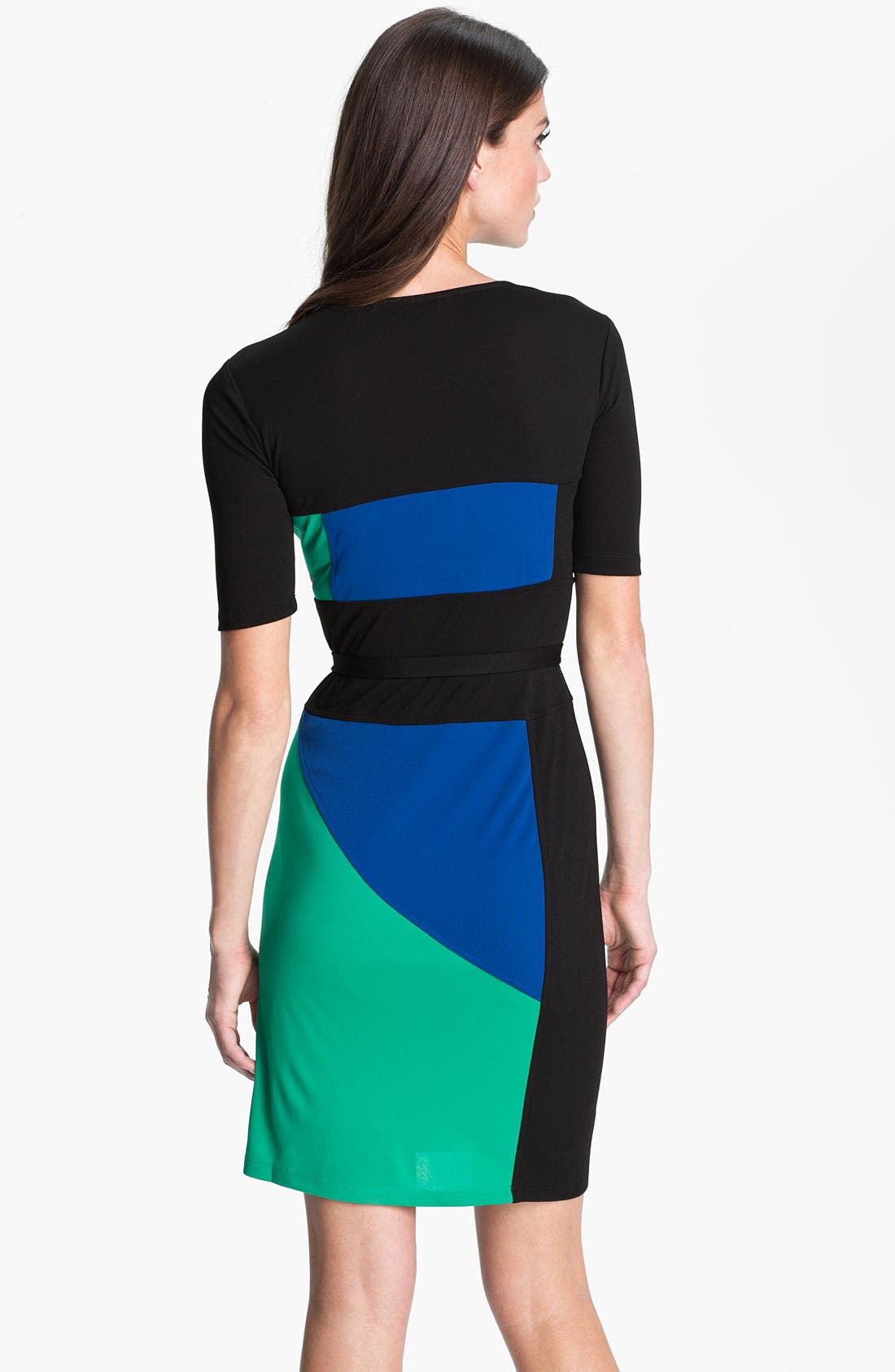 Alternate Image 2  - BCBGMAXAZRIA 'Leticia' Colorblock Jersey Dress