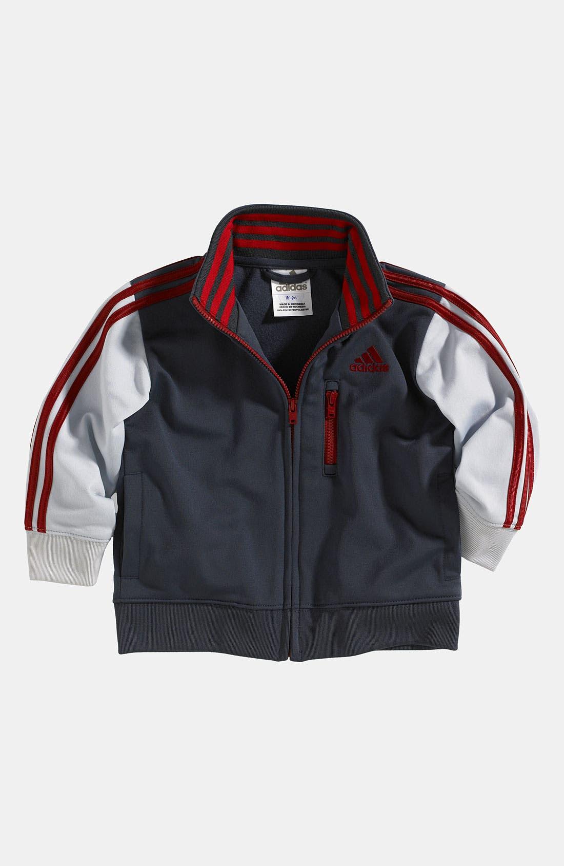 Alternate Image 1 Selected - adidas 'Varsity' Jacket (Toddler)