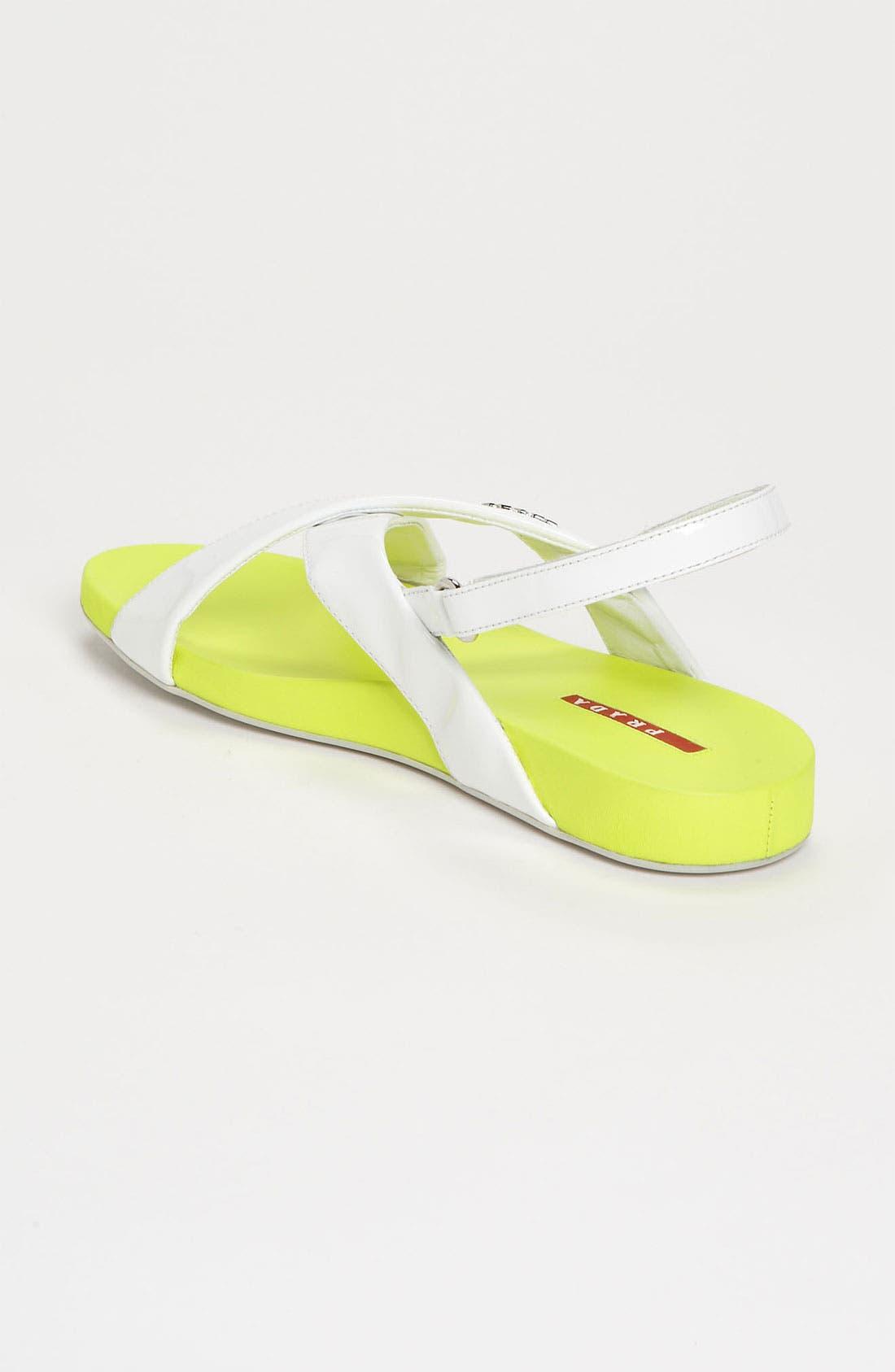 Alternate Image 2  - Prada Crisscross Sandal