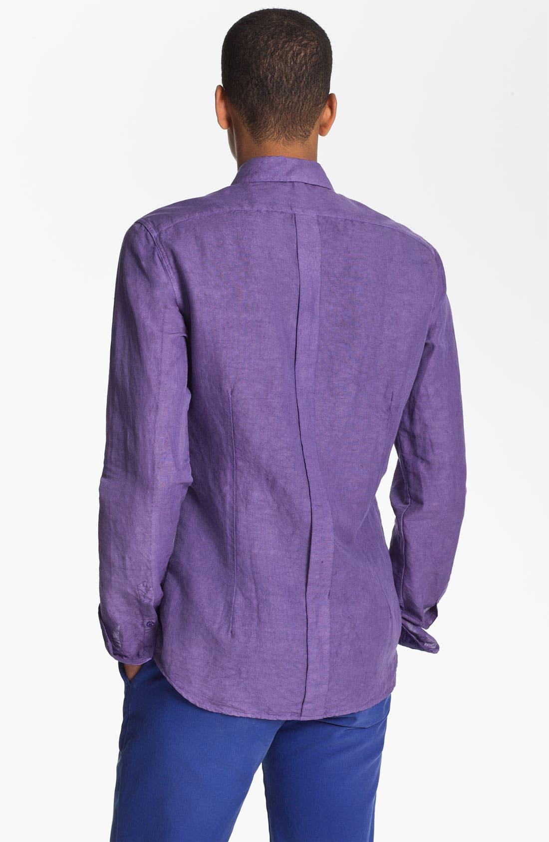 Alternate Image 2  - Etro 'Camicia' Cotton & Linen Shirt