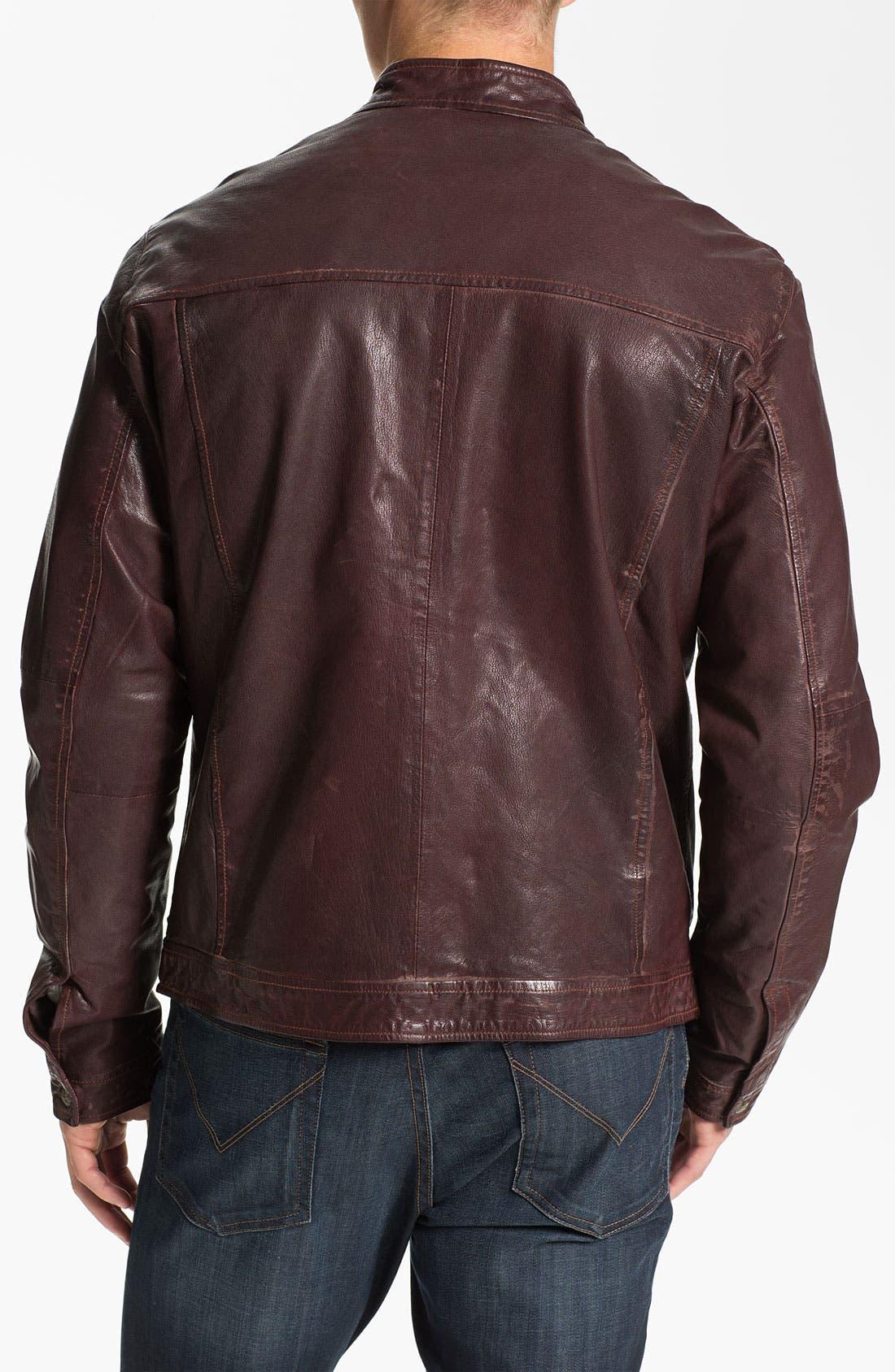 Alternate Image 2  - Scotch & Soda Leather Moto Jacket