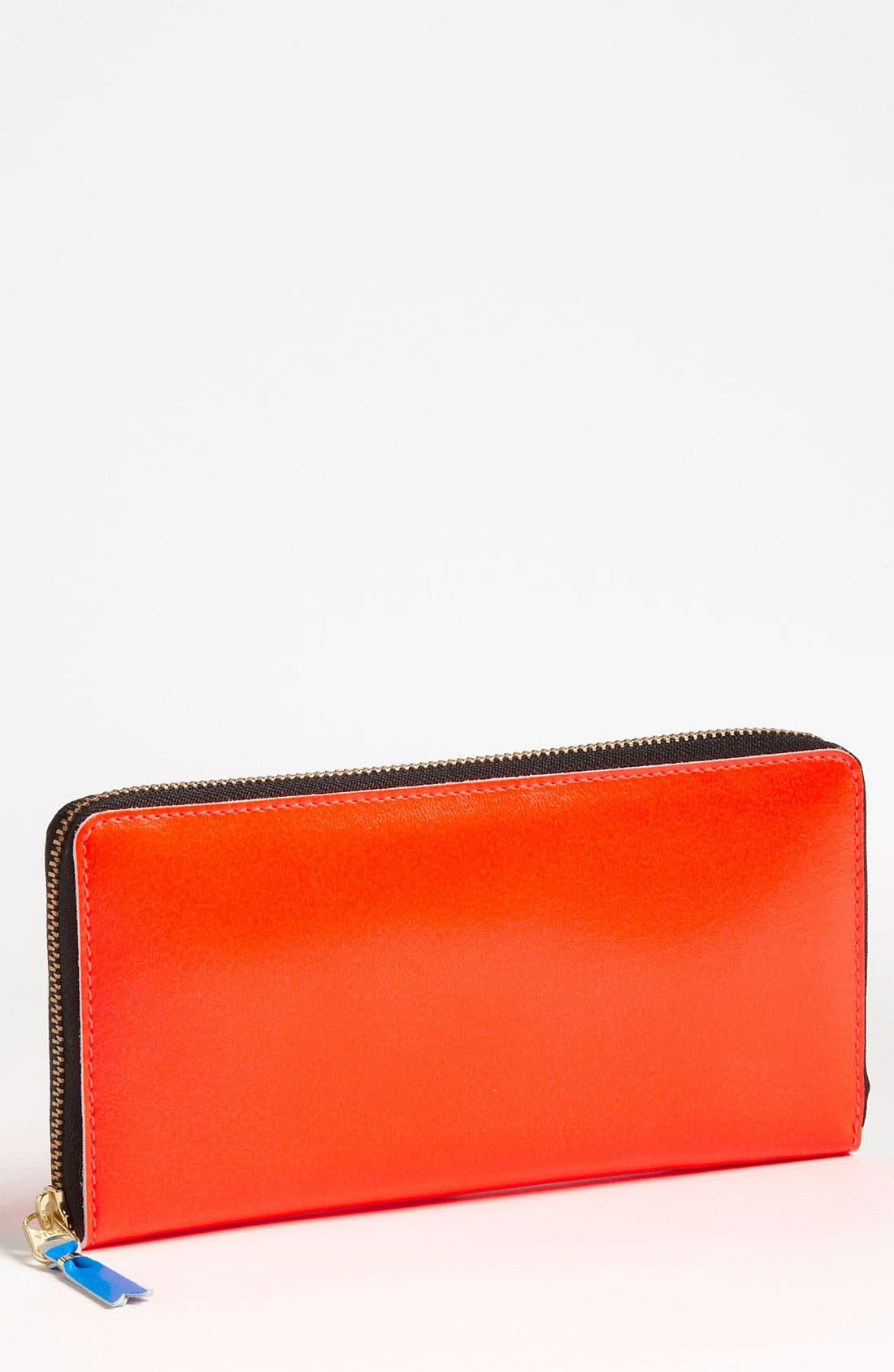 Alternate Image 1 Selected - Comme des Garçons 'Super Fluo' Continental Wallet