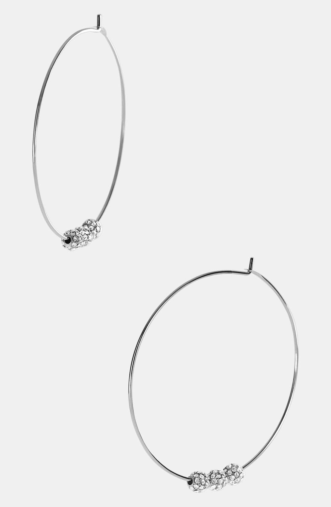 Main Image - Michael Kors 'Fireball Whisper' Large Hoop Earrings