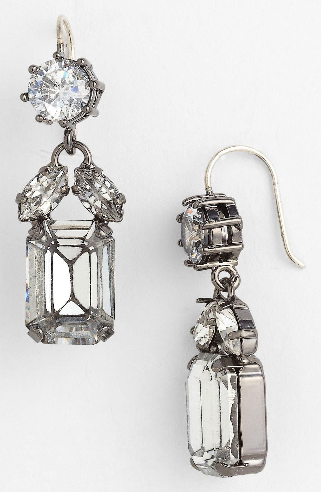 Alternate Image 1 Selected - Juicy Couture Crystal Drop Earrings