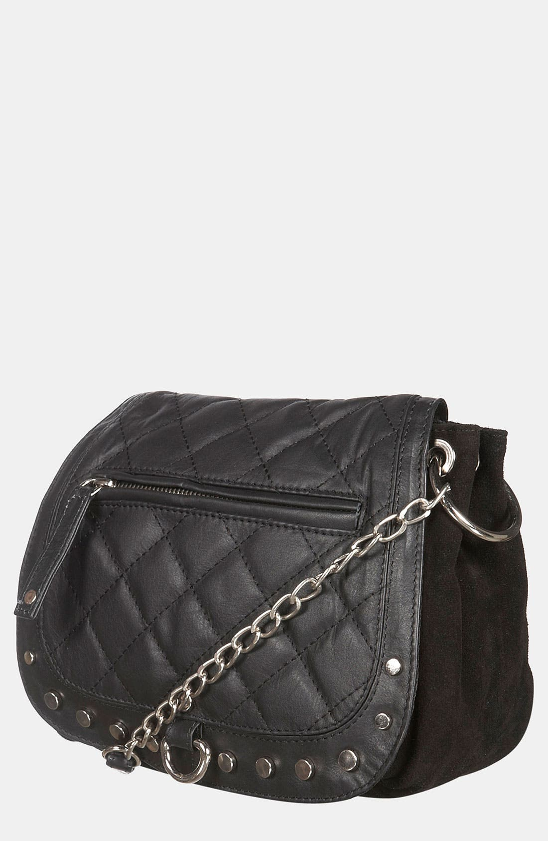 Alternate Image 1 Selected - Topshop Quilted Crossbody Bag