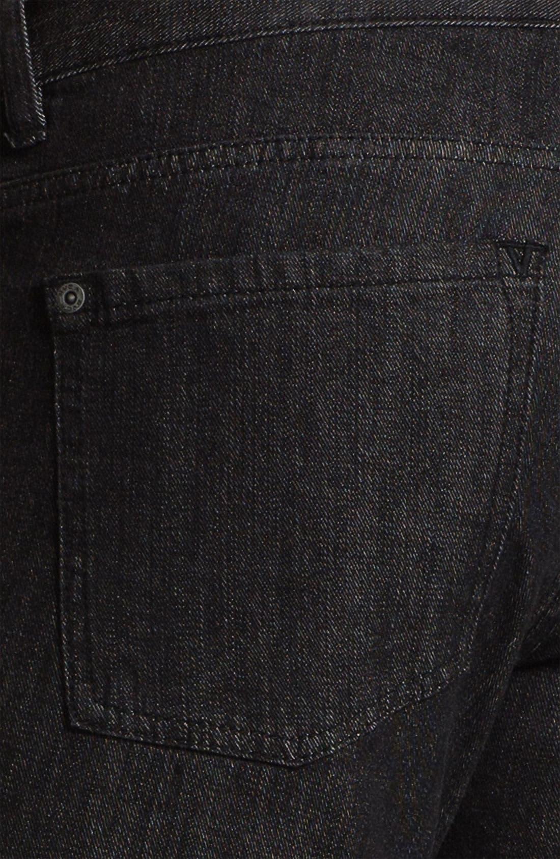 Alternate Image 4  - RVCA 'Daggers' Slim Leg Jeans (Black)