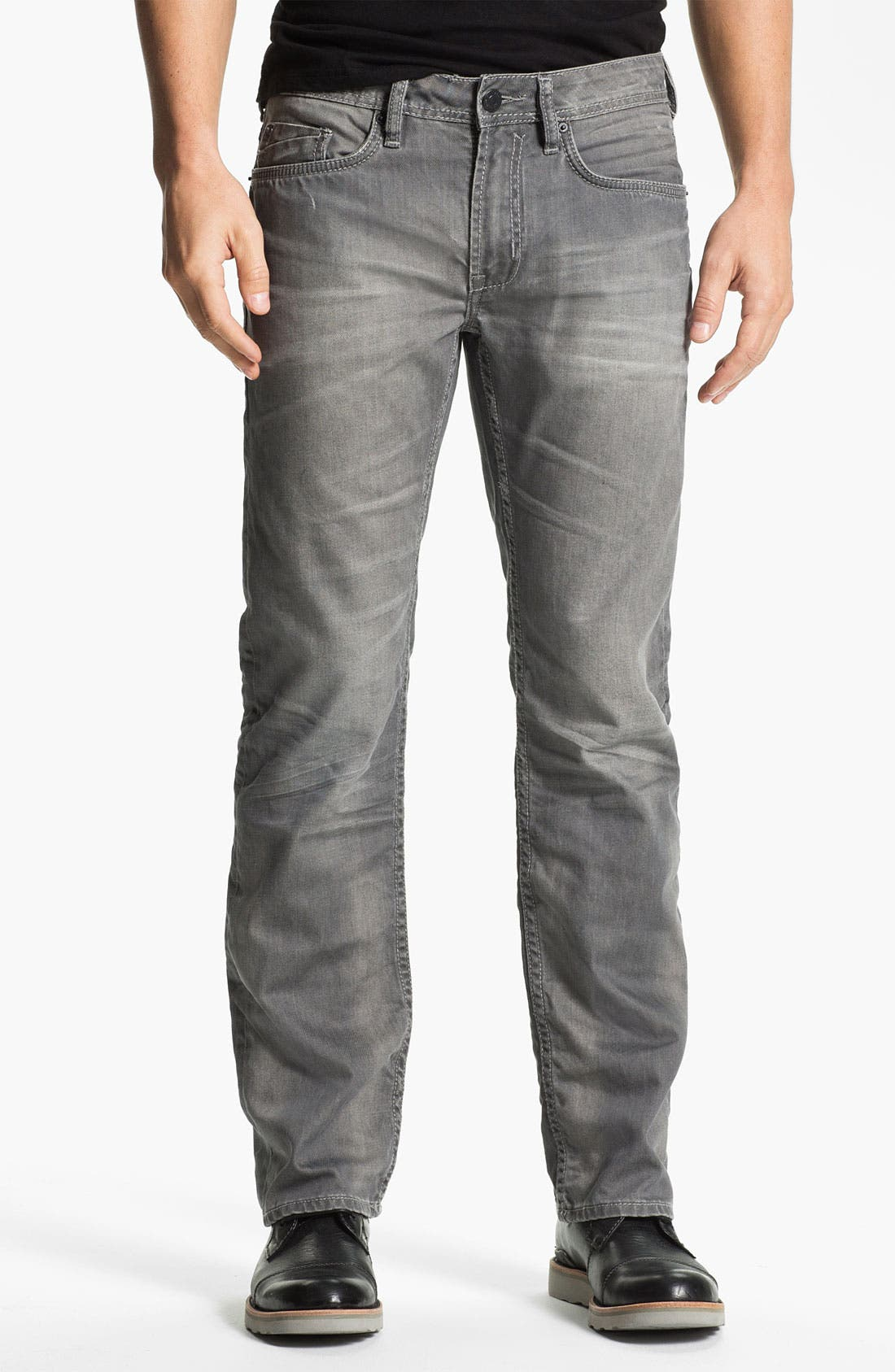 Alternate Image 1 Selected - Buffalo Jeans 'Driven' Straight Leg Jeans (Aged/Torn)