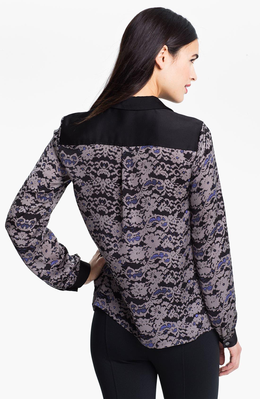 Alternate Image 2  - DKNYC Long Sleeve Print Blouse