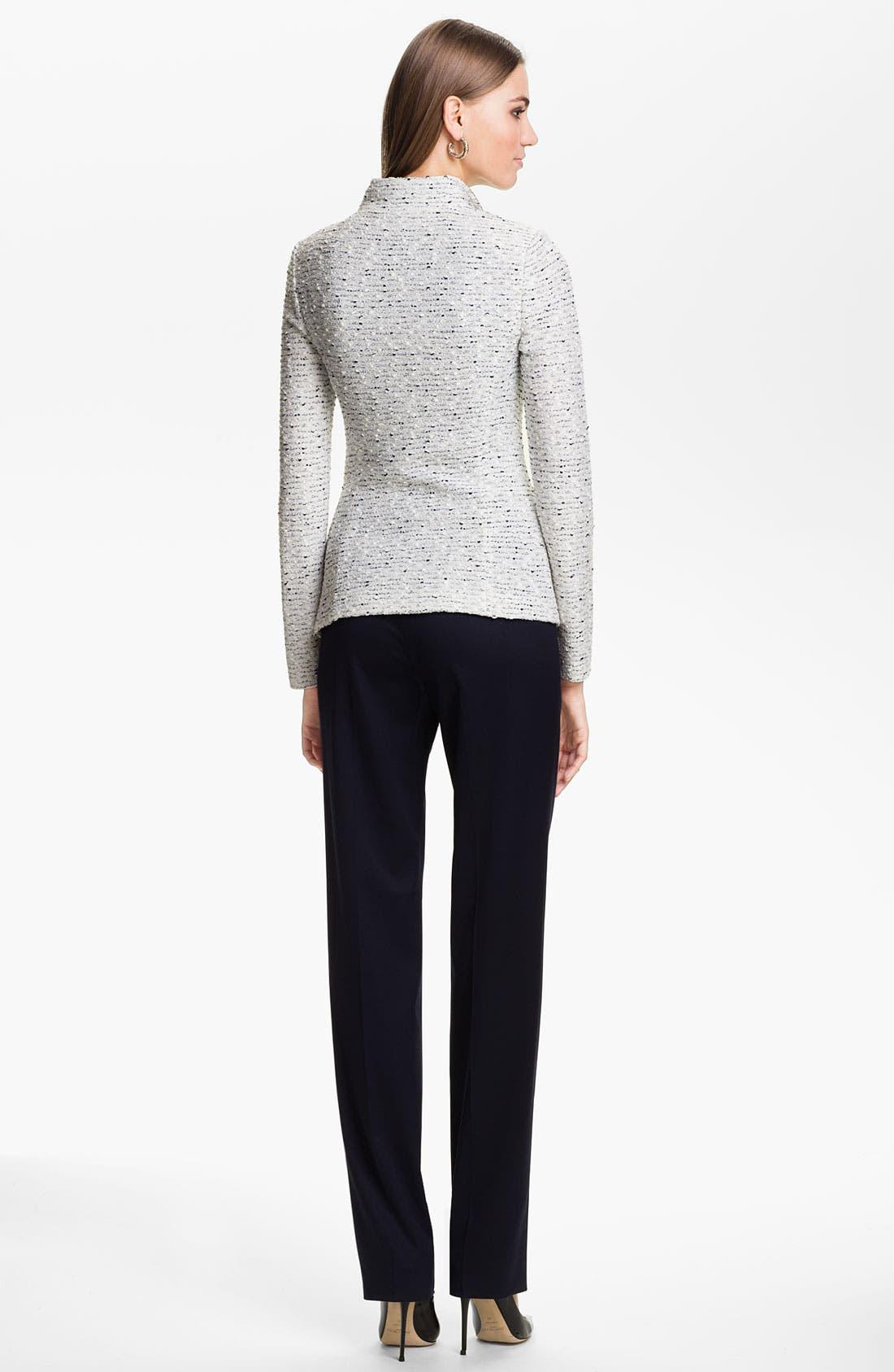 Alternate Image 4  - St. John Collection 'Diana' Straight Leg Venetian Wool Pants