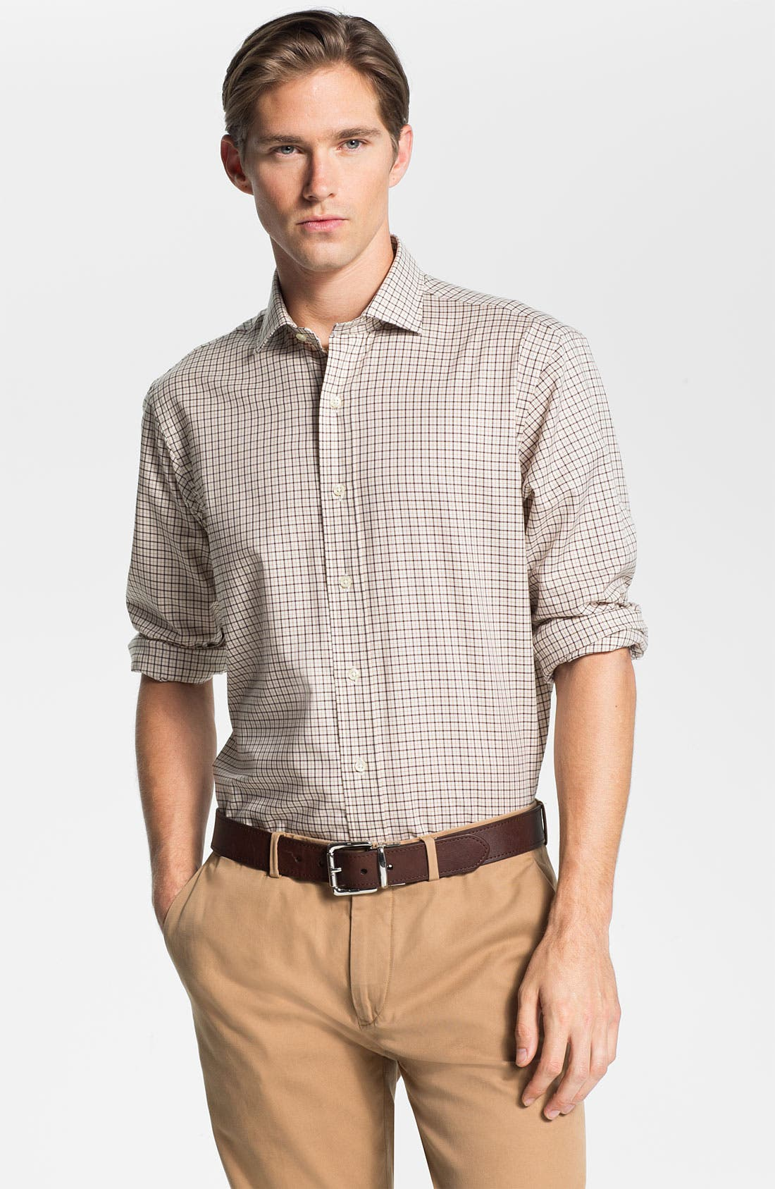 Alternate Image 1 Selected - Polo Ralph Lauren Custom Fit Poplin Sport Shirt