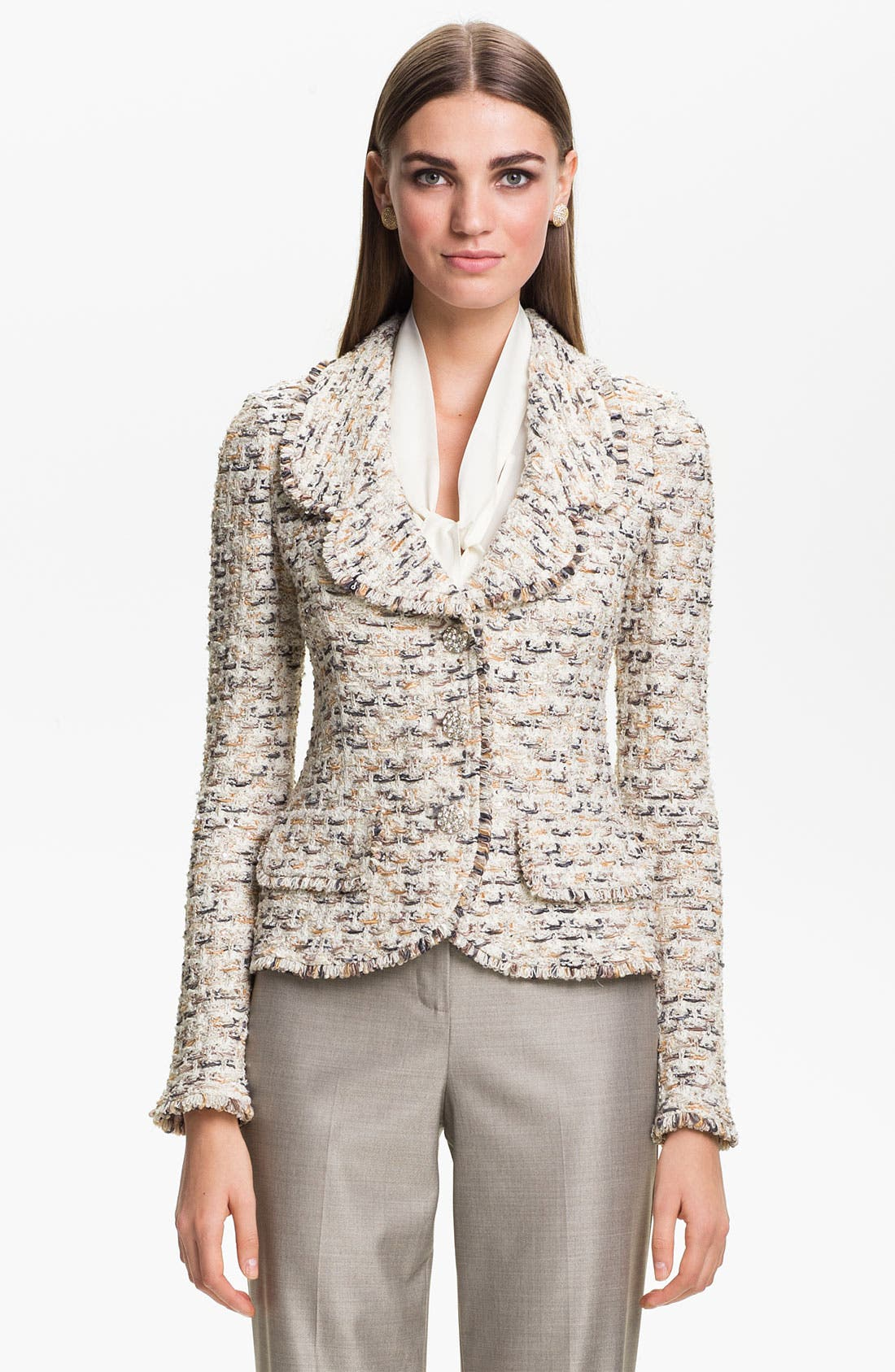 Main Image - St. John Collection Fringe Tweed Jacket