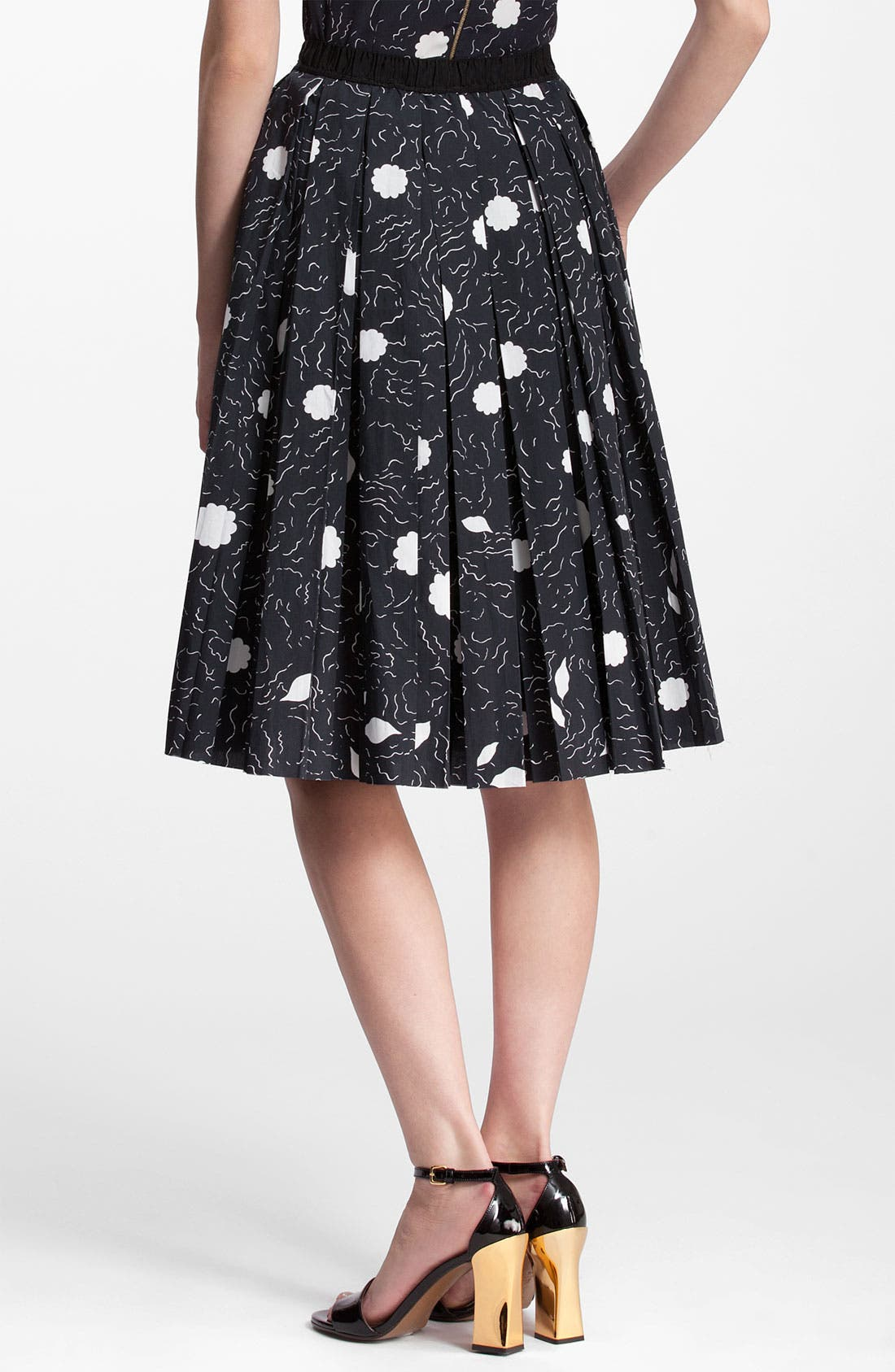 Alternate Image 2  - Marni Abstract Print Pleated Skirt