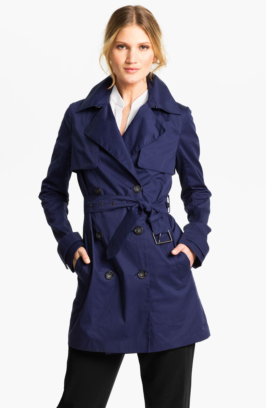 Alternate Image 1 Selected - Vince Double Breasted Trench Coat