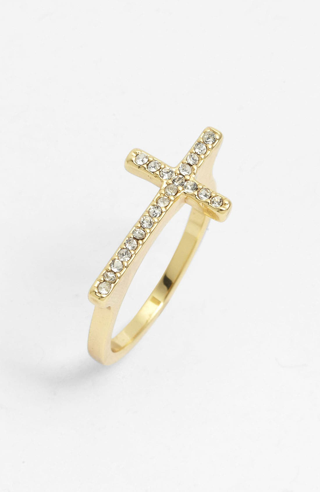 Main Image - Ariella Collection Pavé Cross Ring